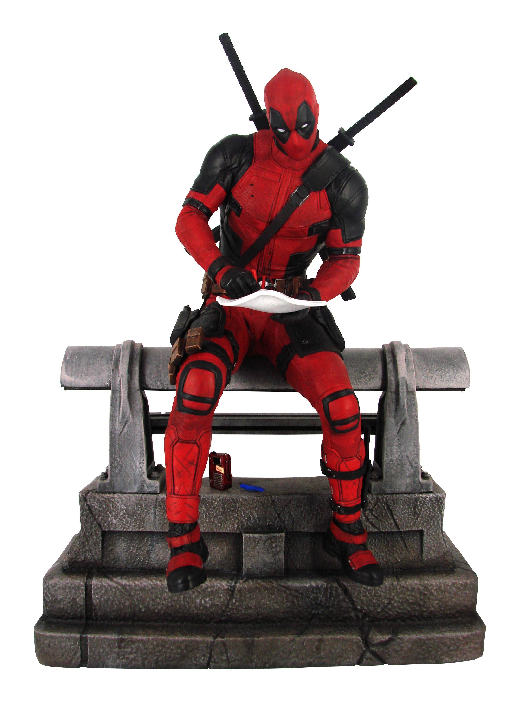 MARVEL PREMIER COLLECTION DEADPOOL MOVIE STATUE (O/A)