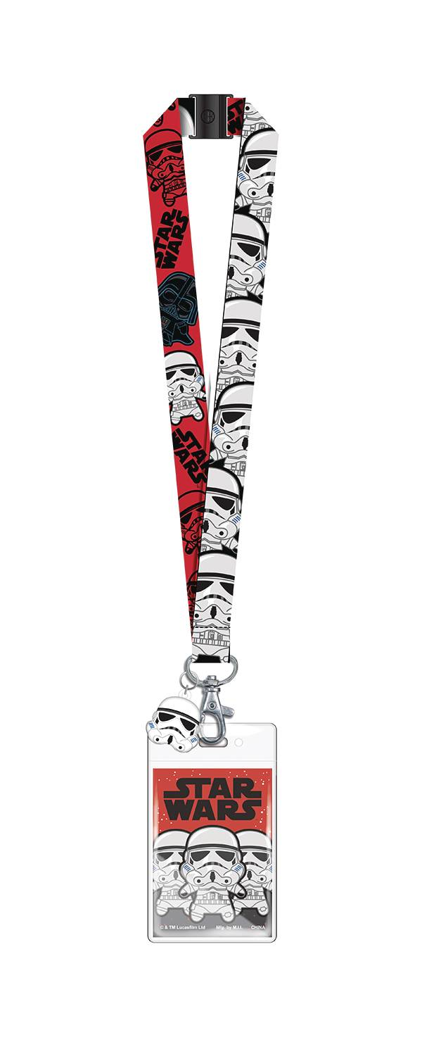 STAR WARS STORMTROOPER LANYARD W/SOFT TOUCH DANGLE