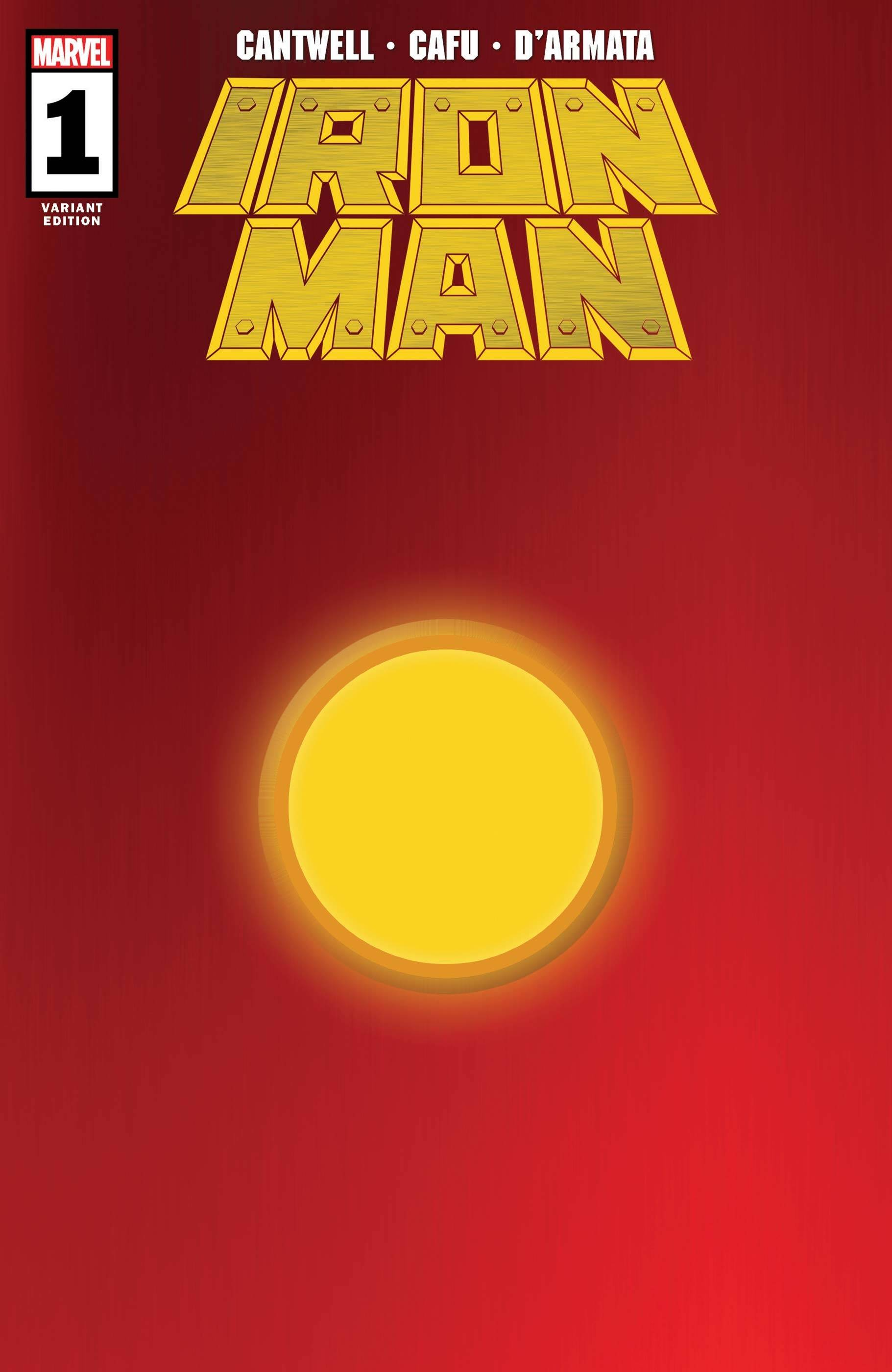 IRON MAN #1 RED GOLD VAR