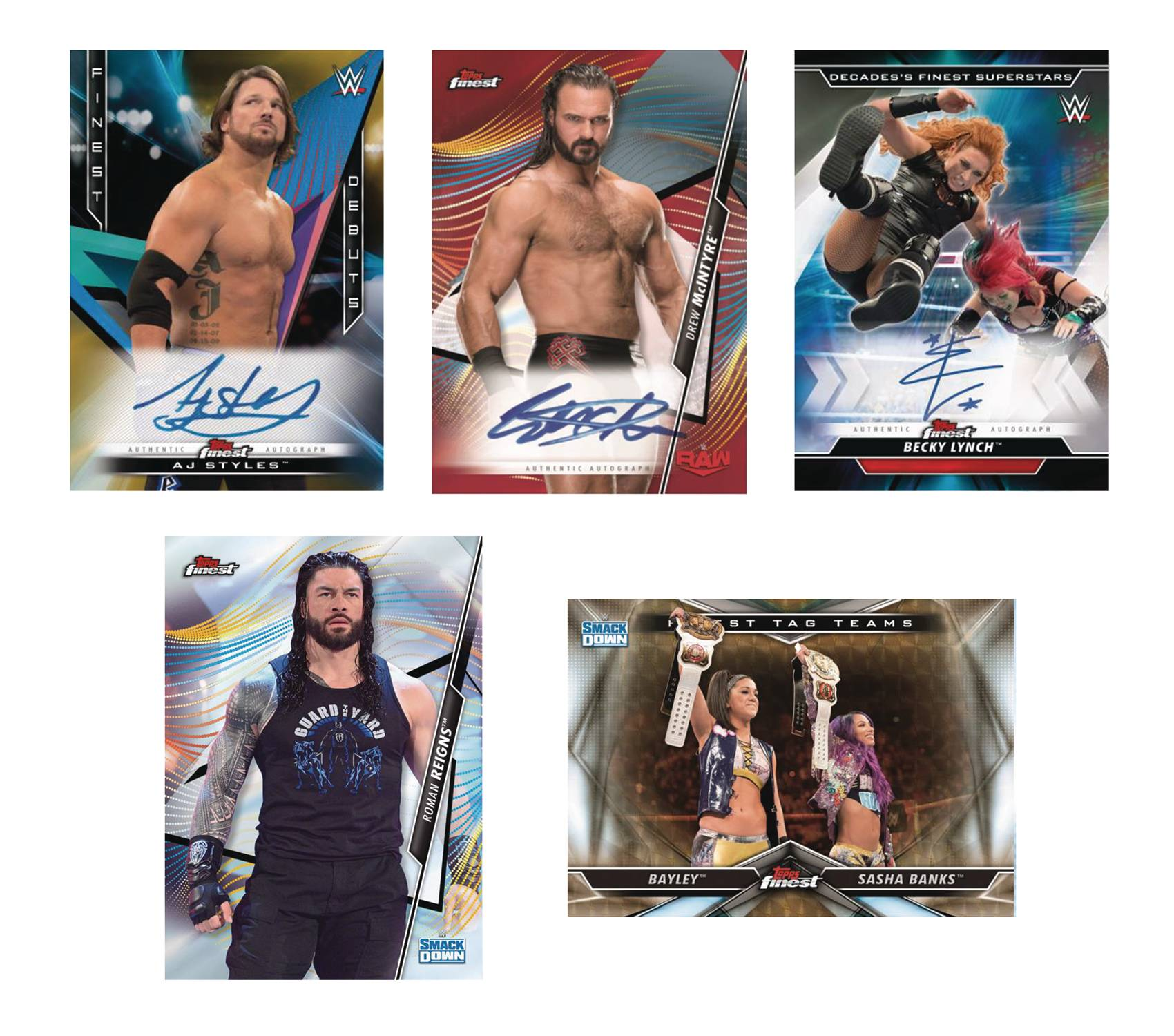 TOPPS 2020 FINEST WWE T/C BOX