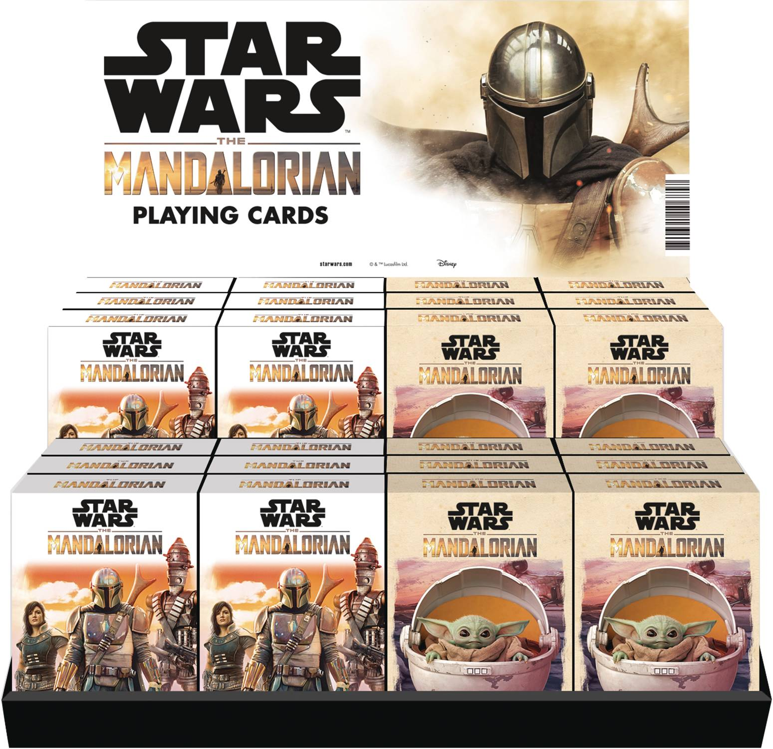 STAR WARS THE MANDALORIAN PLAYING CARD 24PC DS