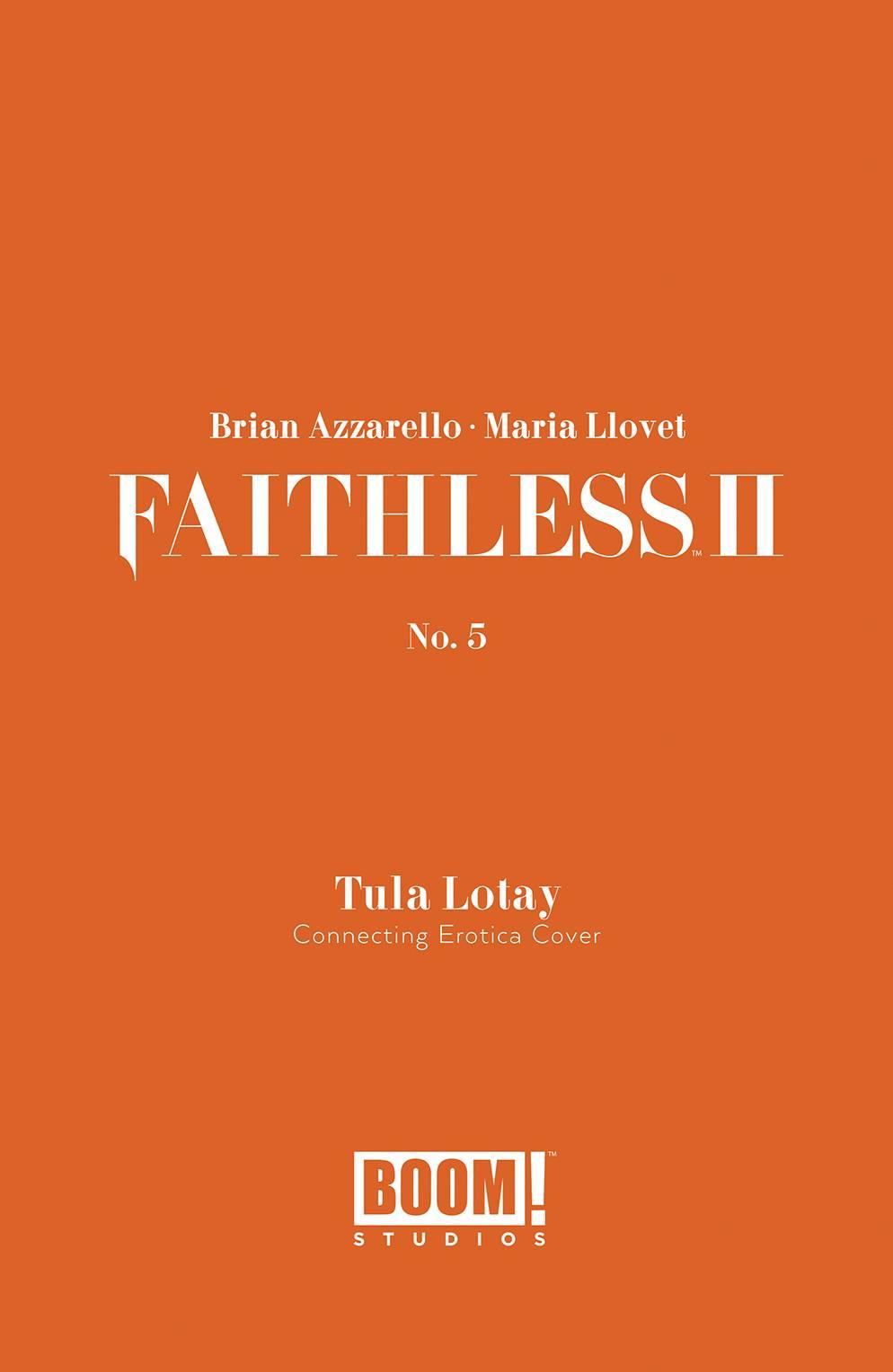 FAITHLESS II #5 CVR B EROTICA CONNECTING VAR (MR)