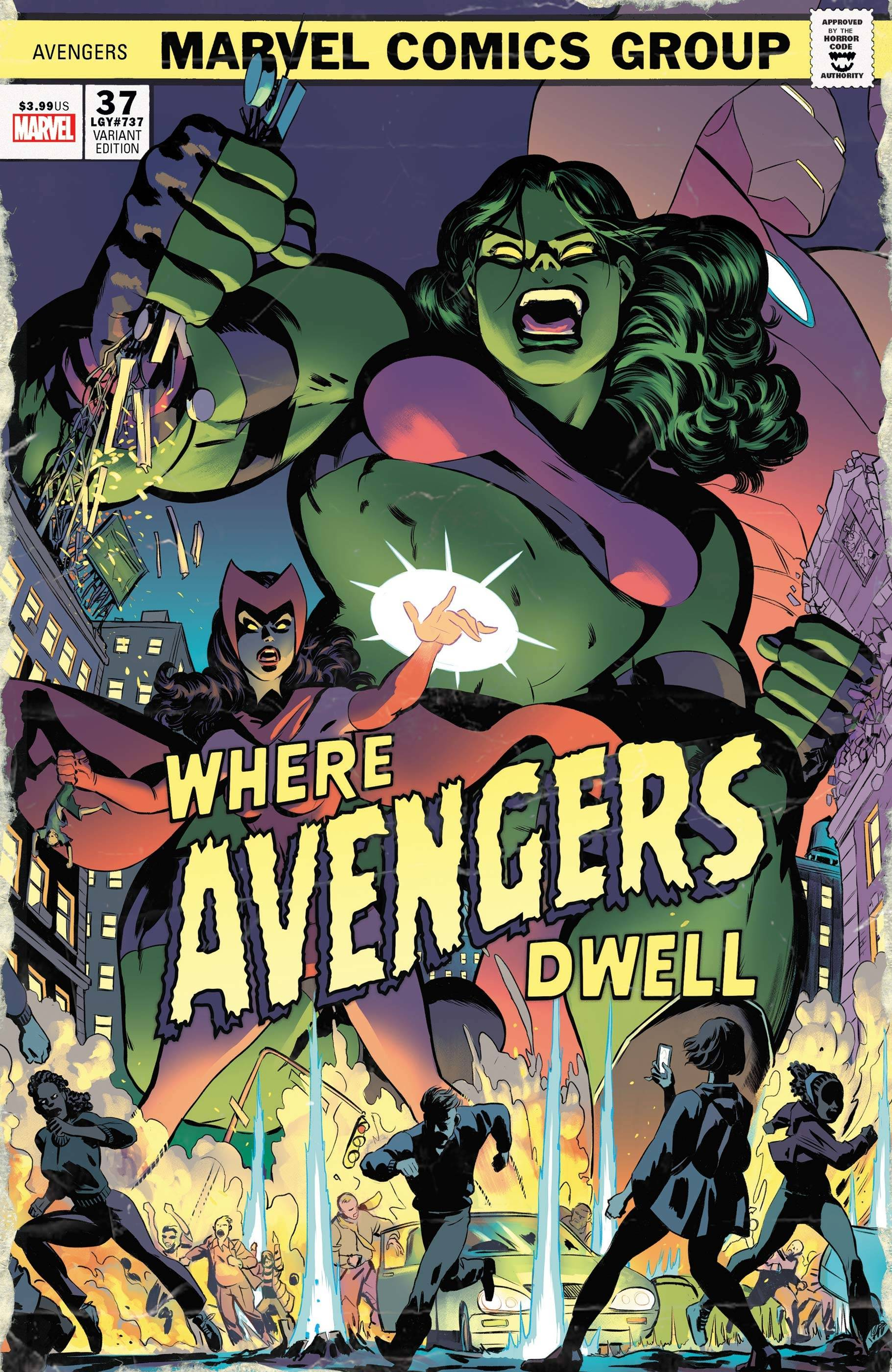 AVENGERS #37 RODRIGUEZ WHERE AVENGERS DWELL HORROR VAR