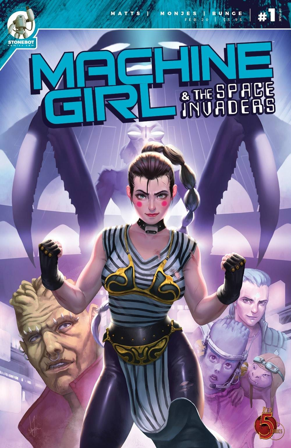 MACHINE GIRL & SPACE INVADERS #1 (MR)
