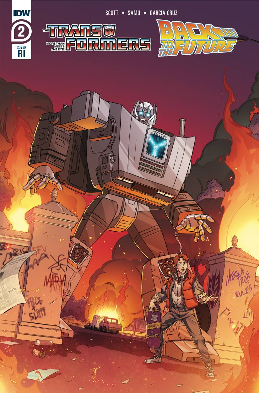 TRANSFORMERS BACK TO FUTURE #2 (OF 4) 10 COPY INCV SCHOENING