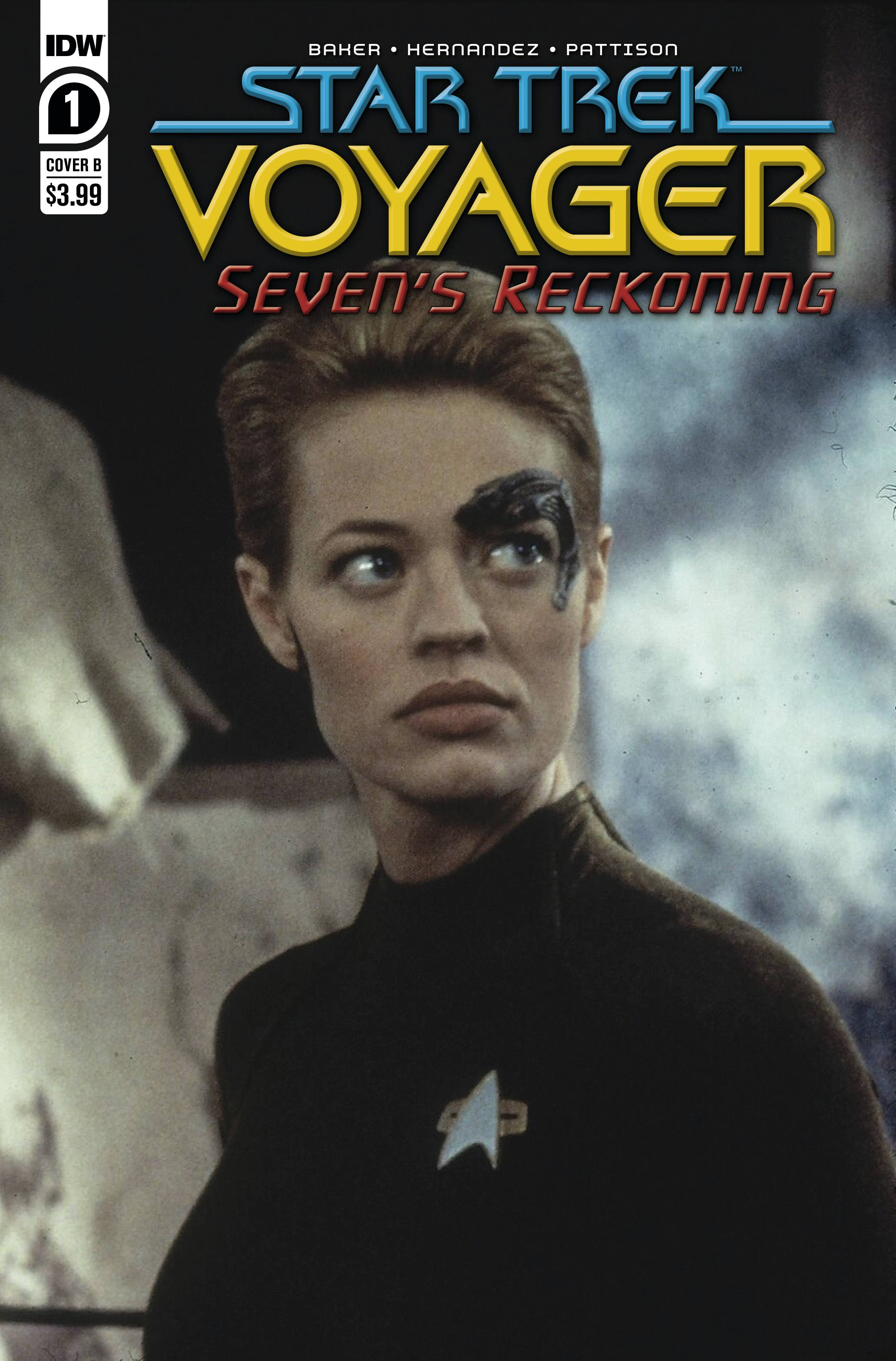 STAR TREK VOYAGER SEVENS RECKONING #1 (OF 4) CVR B PHOTO