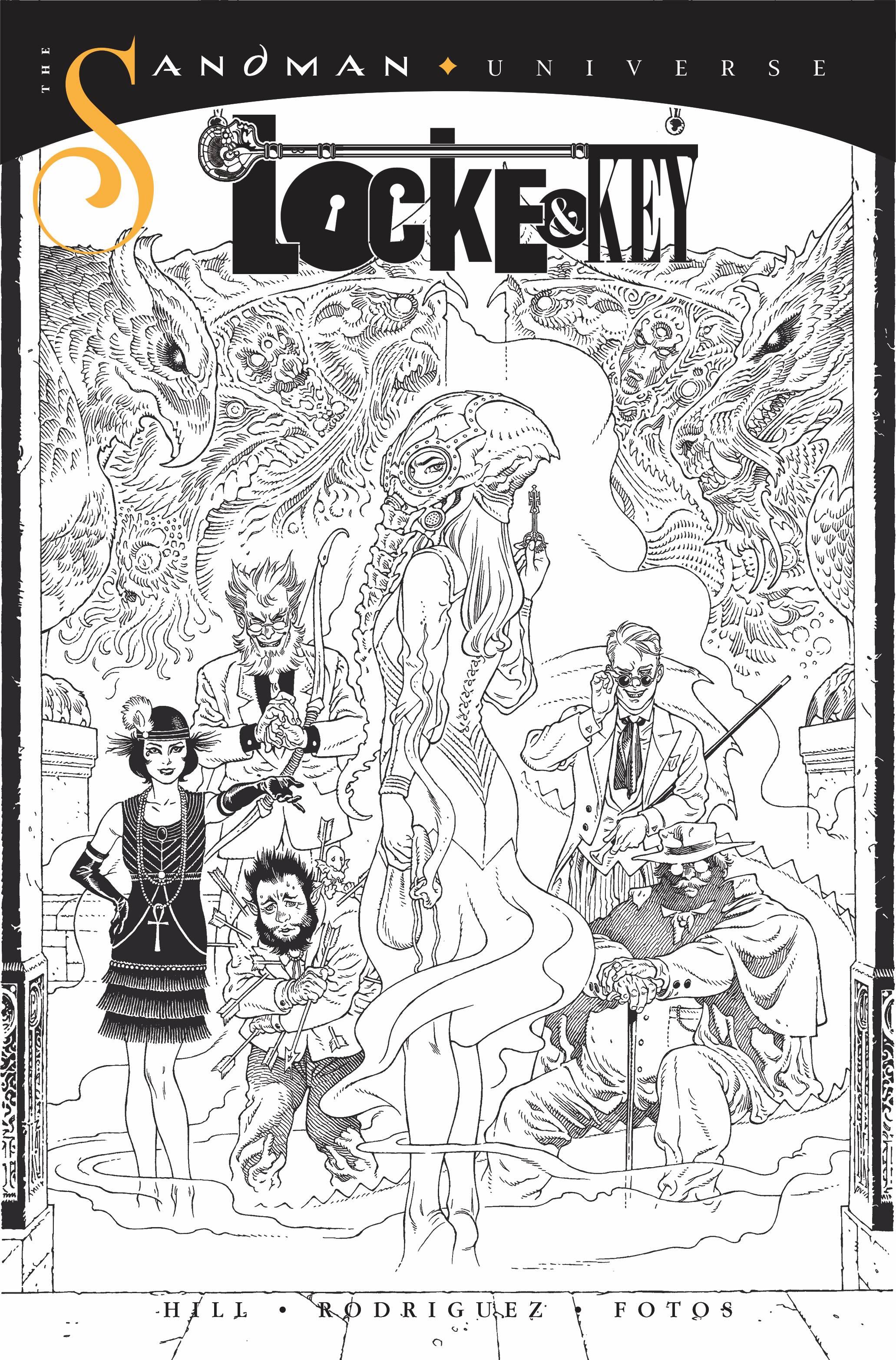 LOCKE & KEY SANDMAN HELL & GONE #1 10 COPY INCV B&W RODRIQUE