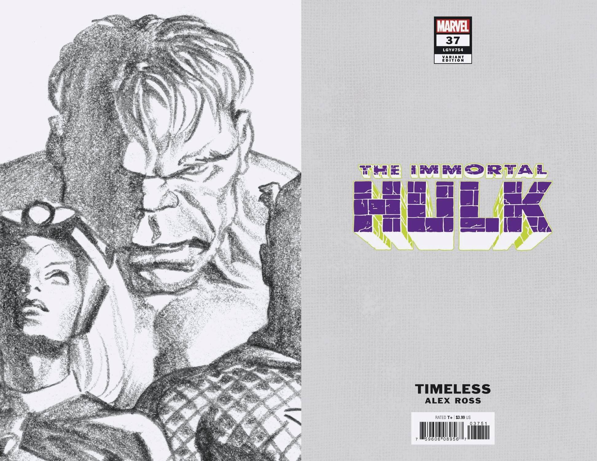 IMMORTAL HULK #37 ALEX ROSS HULK TIMELESS VIRGIN SKETCH VAR