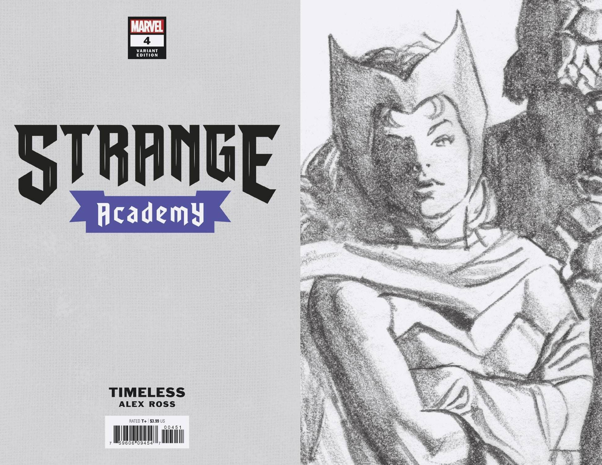 STRANGE ACADEMY #4 SCARLET WITCH TIMELESS VIRGIN SKETCH VAR