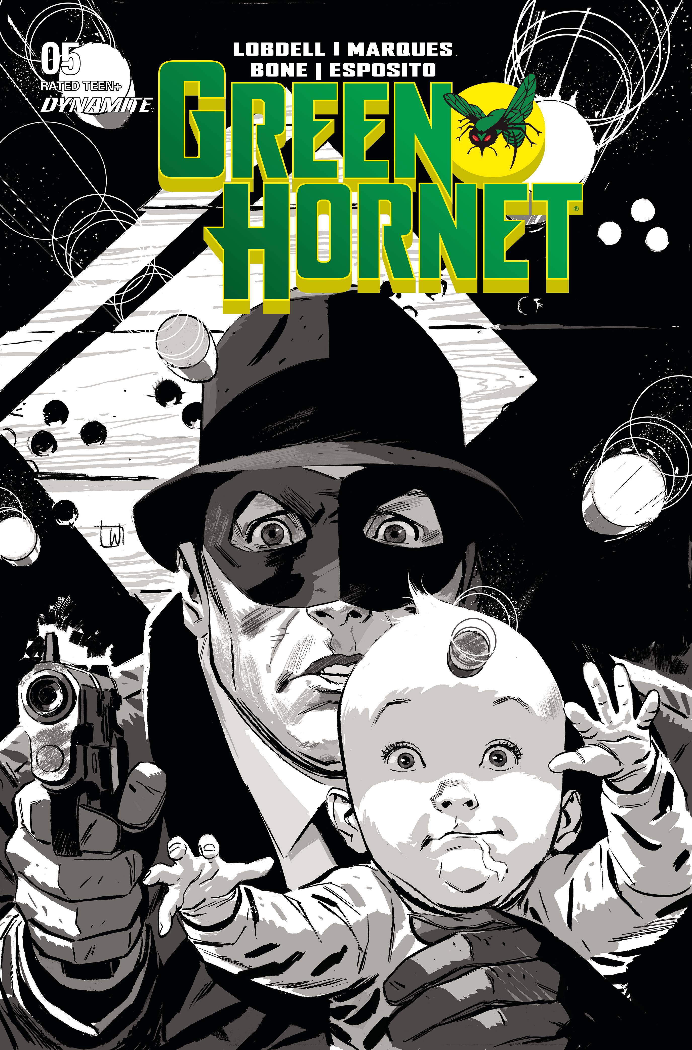 GREEN HORNET #5 20 COPY WEEKS B&W INCV