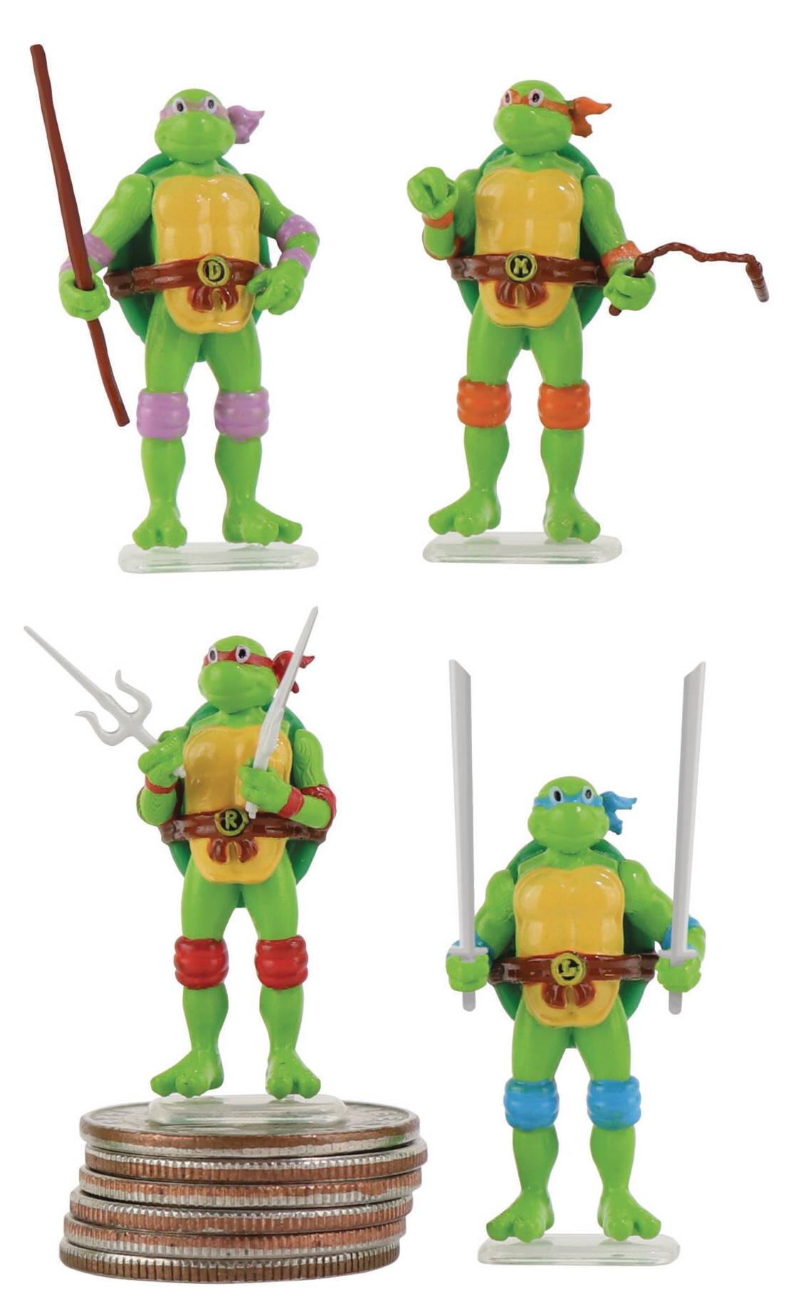 WORLDS SMALLEST TMNT FIGURE INNER CASE ASST  (JUL208057
