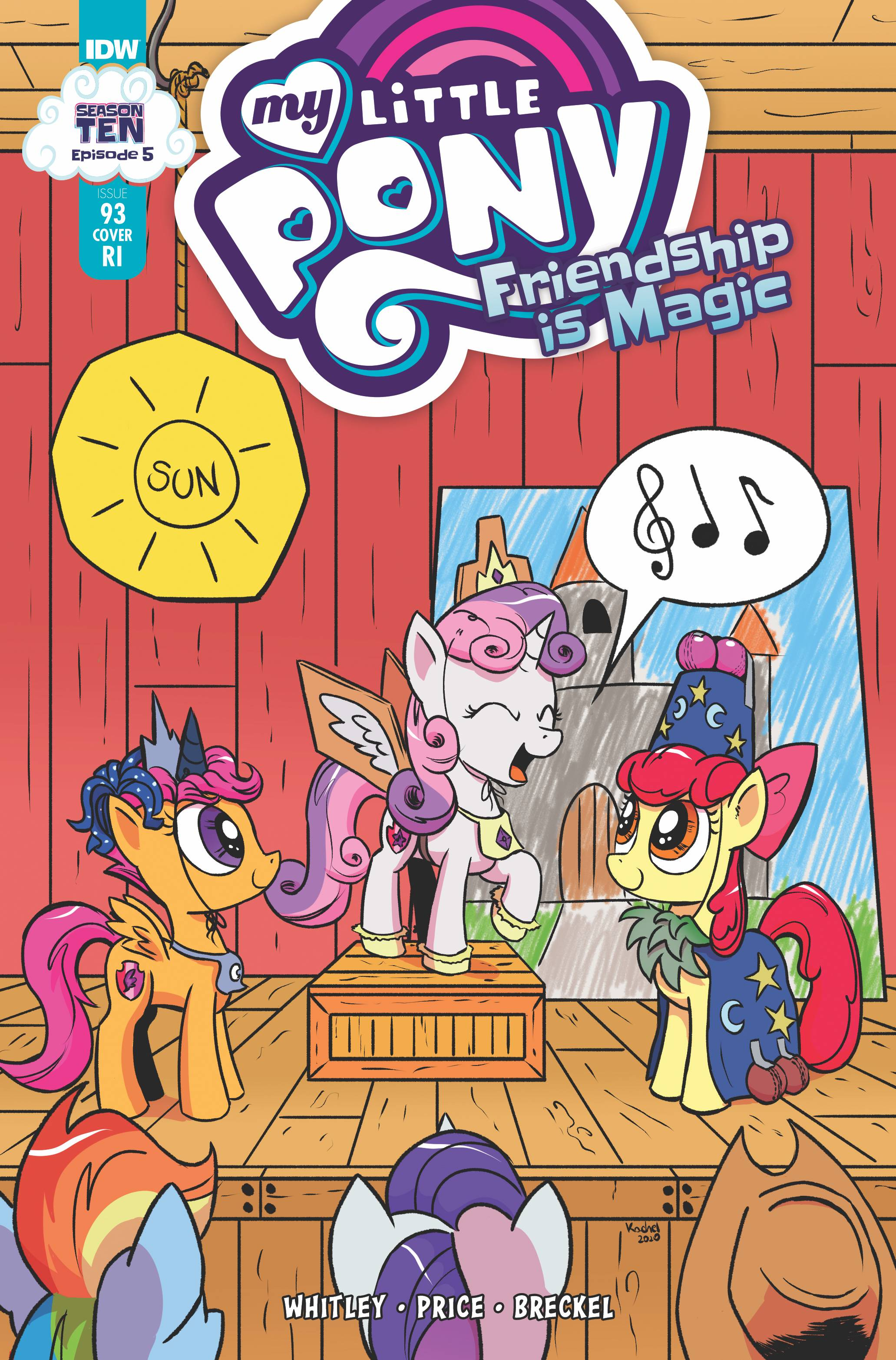 MY LITTLE PONY FRIENDSHIP IS MAGIC #93 10 COPY INCV KACHEL (