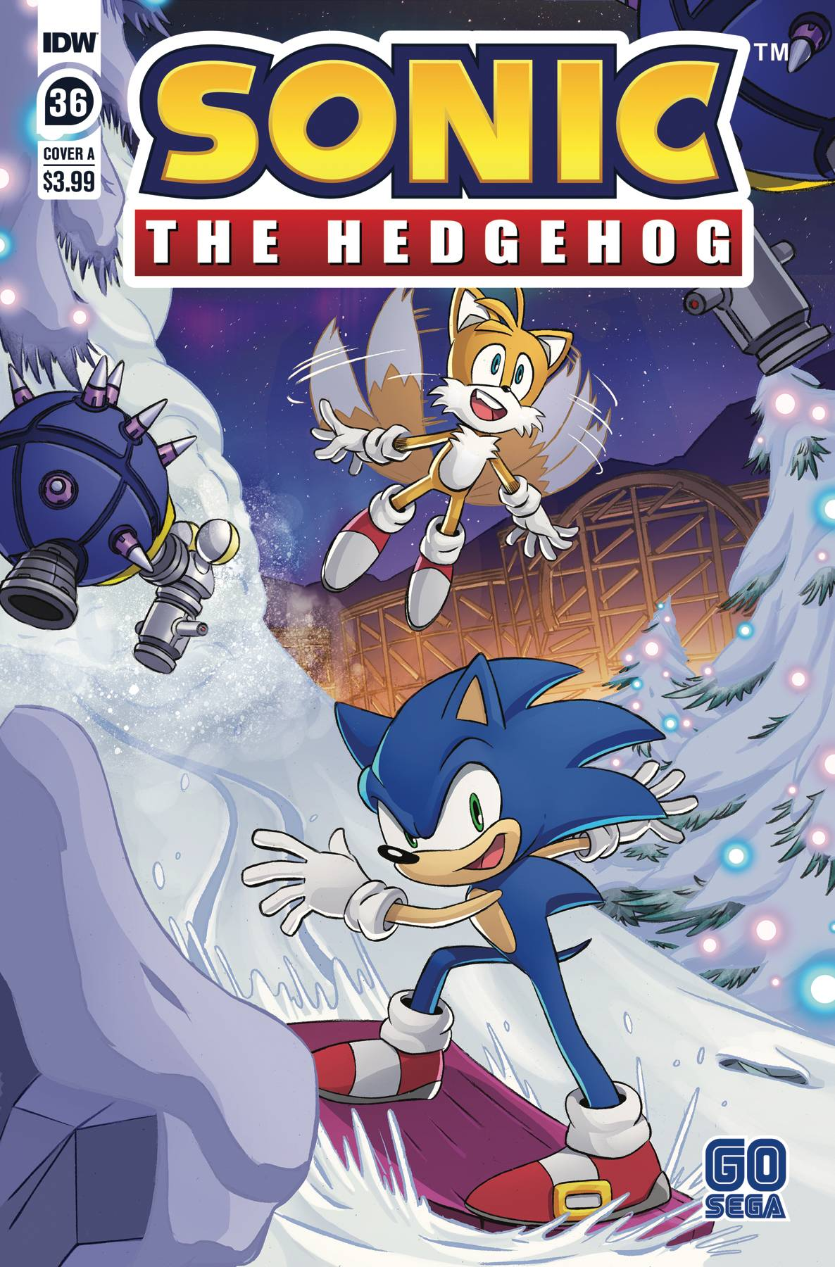 SONIC THE HEDGEHOG #36 CVR A SCHOENING