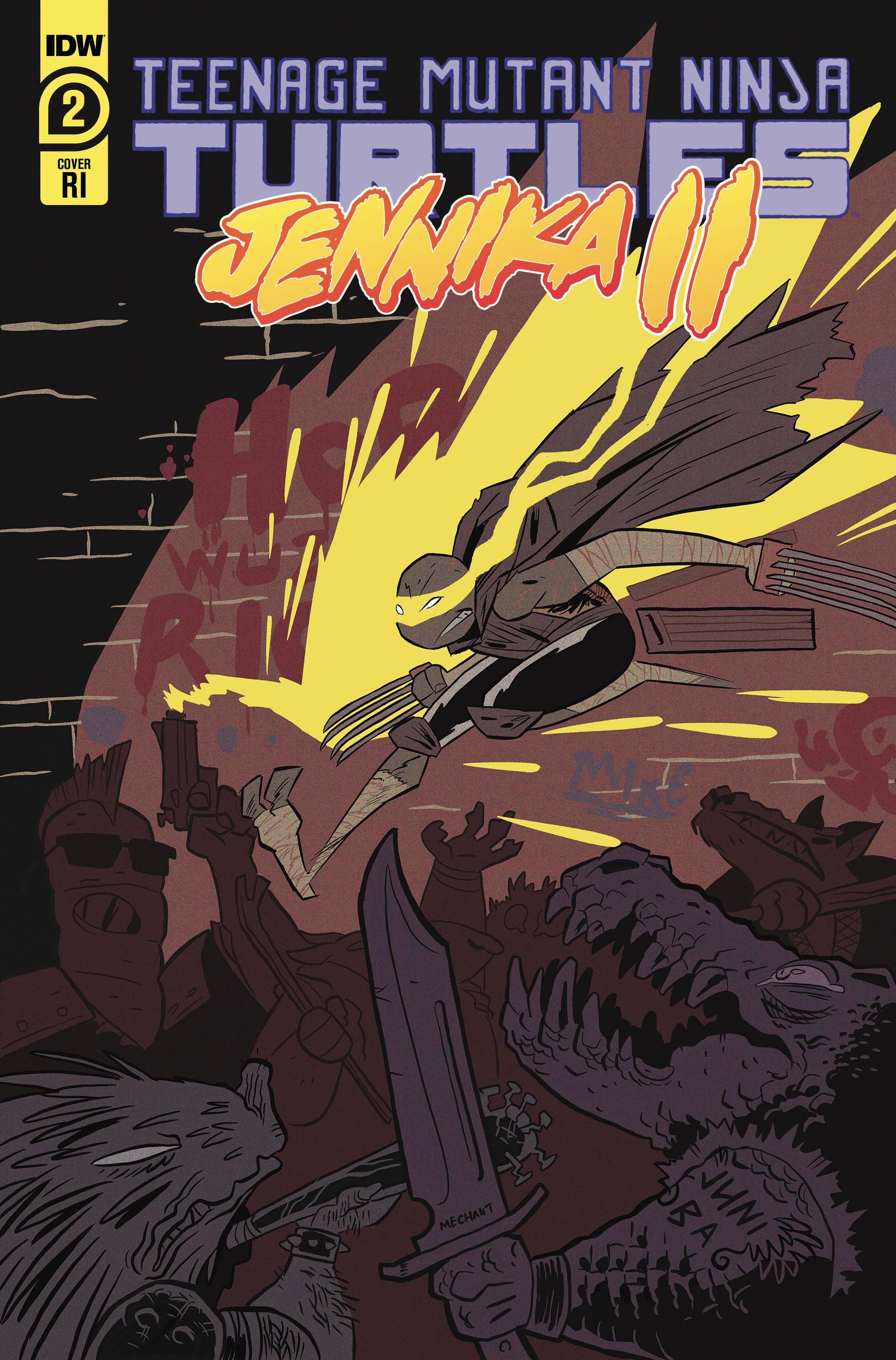 TMNT JENNIKA II #2 (OF 6) 10 COPY JUNI BA INCV CVR