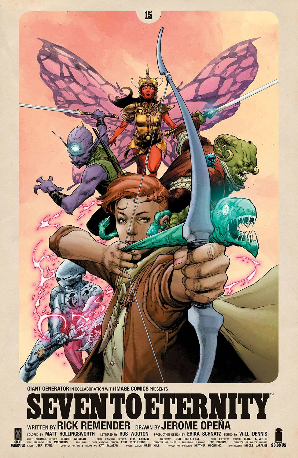 SEVEN TO ETERNITY #15 CVR A OPENA & HOLLINGSWORTH (MR)