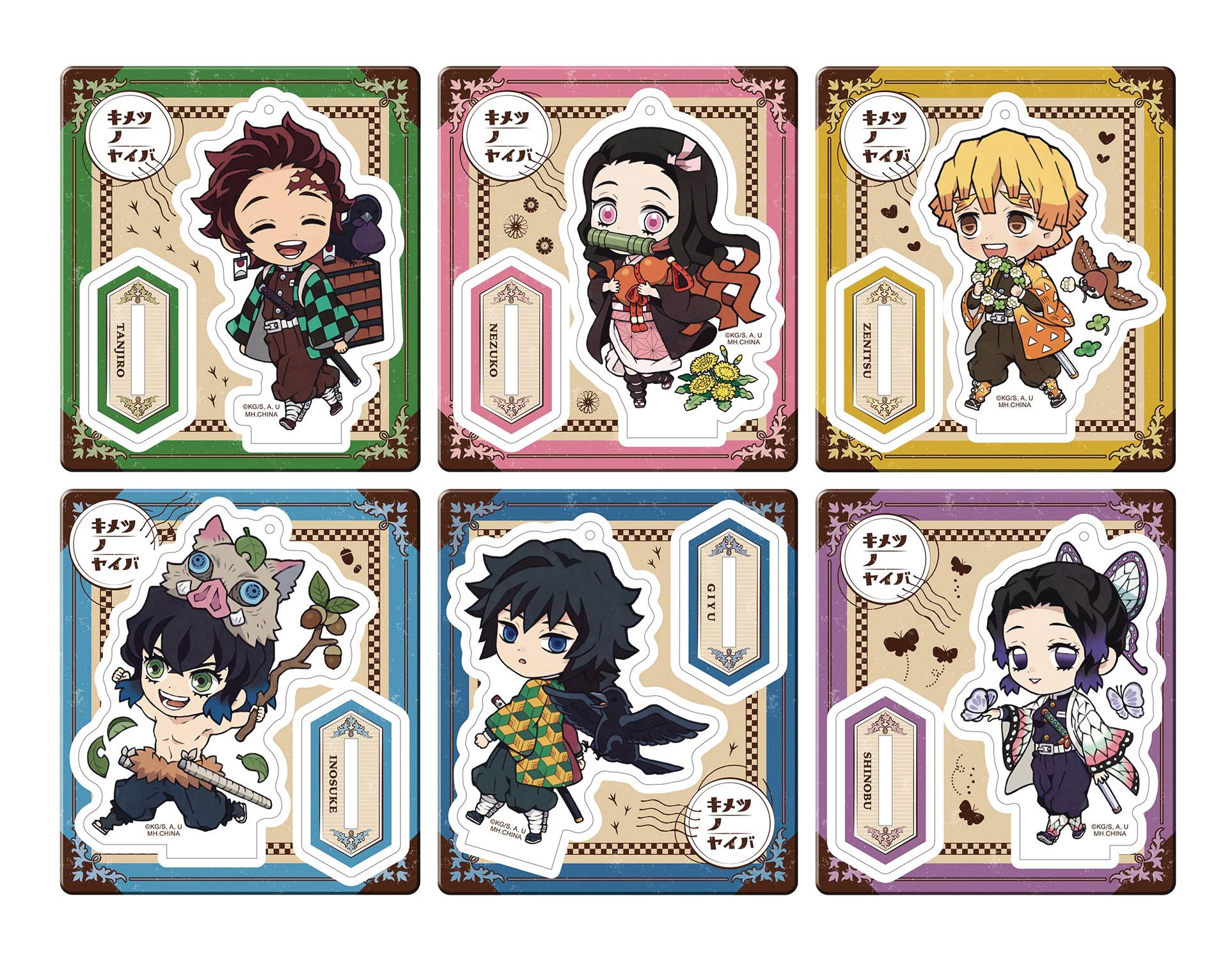 DEMON SLAYER KIMETSU RETRO ACRYL STAND OUTING 6PC DS