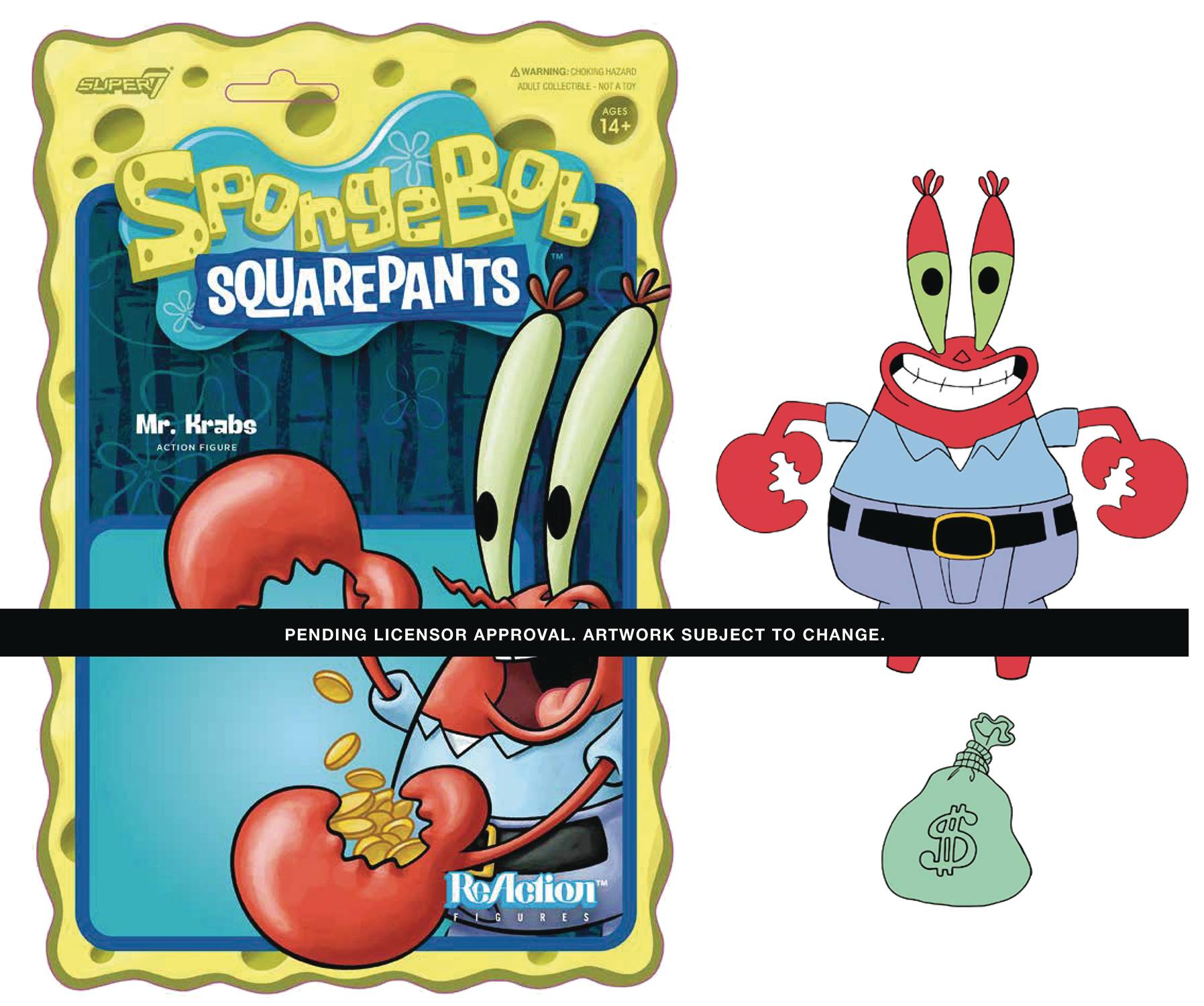 SPONGEBOB SQUAREPANTS MR KRABS REACTION FIGURE