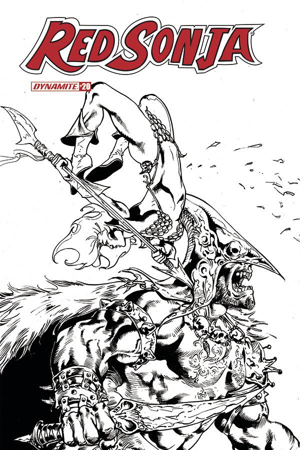 RED SONJA #20 11 COPY CASTRO B&W FOC INCV