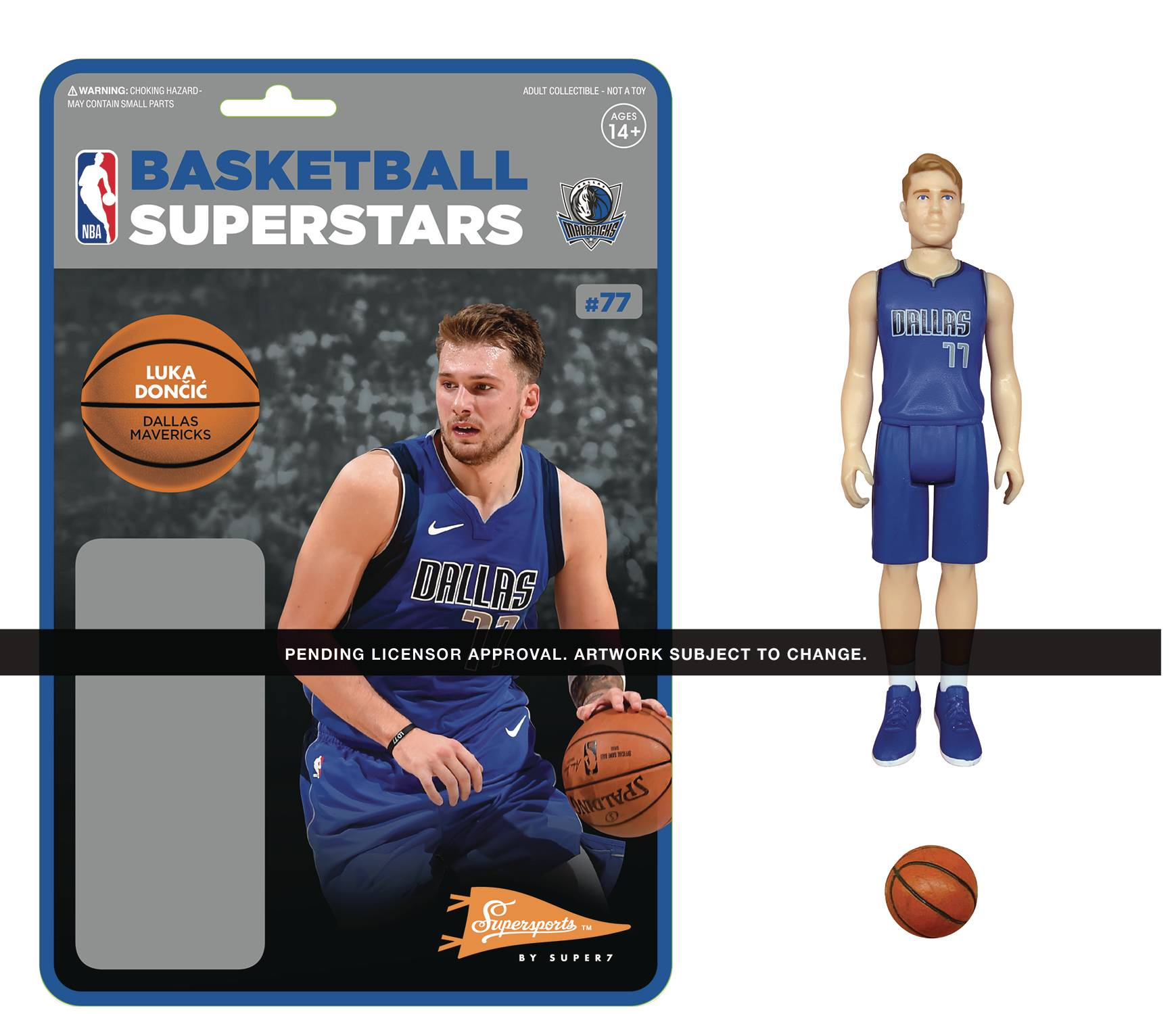 NBA DALLAS MAVERICKS LUKA DONCIC REACTION FIGURE