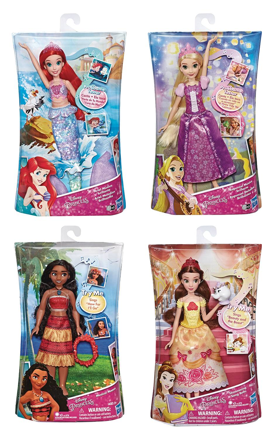 DISNEY PRINCESS SINGING DOLL ASST