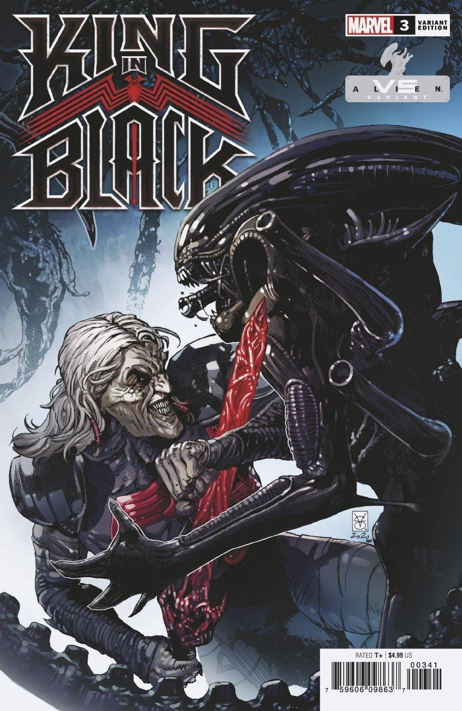 KING IN BLACK #3 (OF 5) GIANGIORDANO MARVEL VS ALIEN VAR