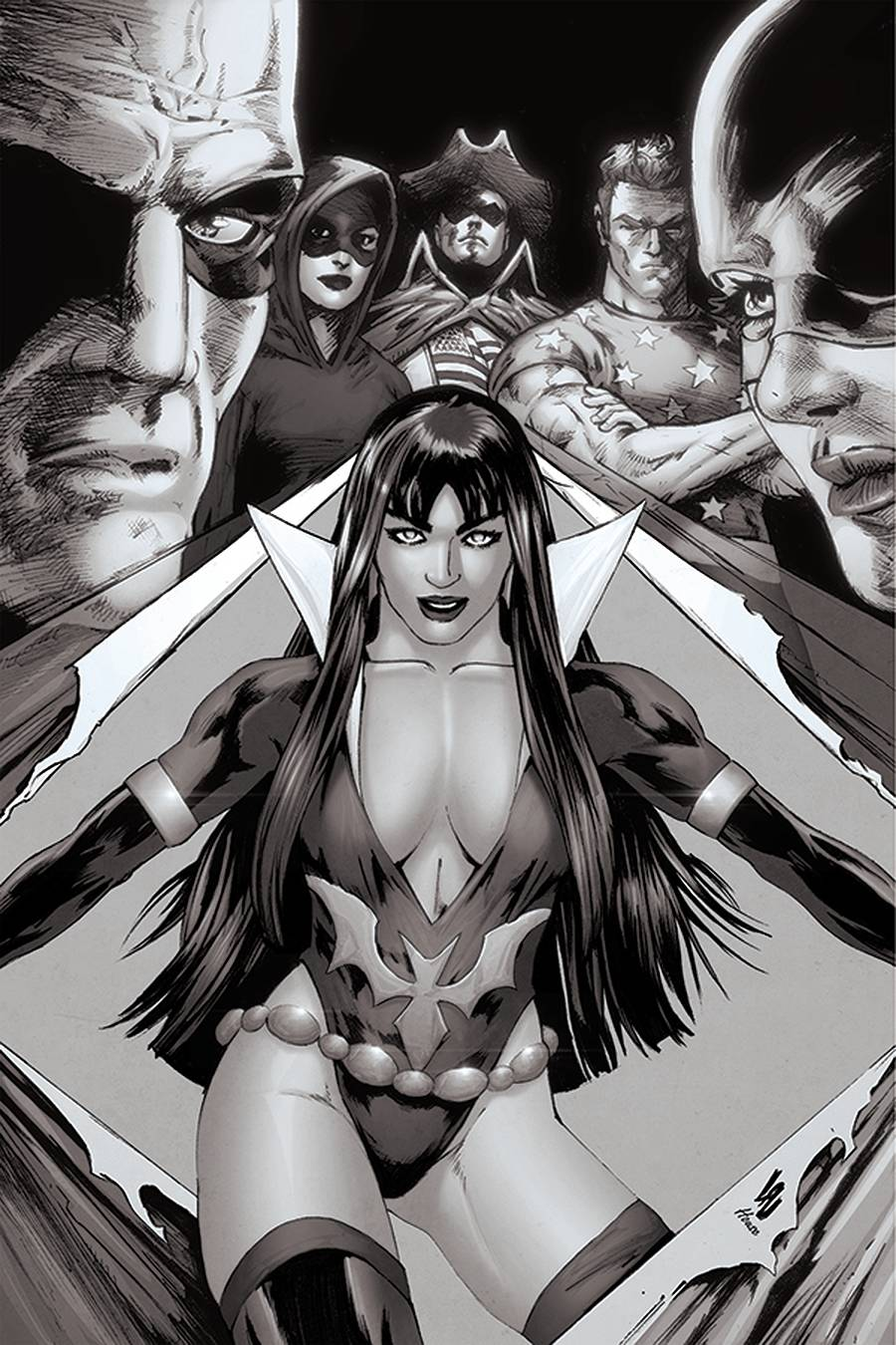 VAMPIRELLA DARK POWERS #2 25 COPY LAU B&W VIRGIN INCV