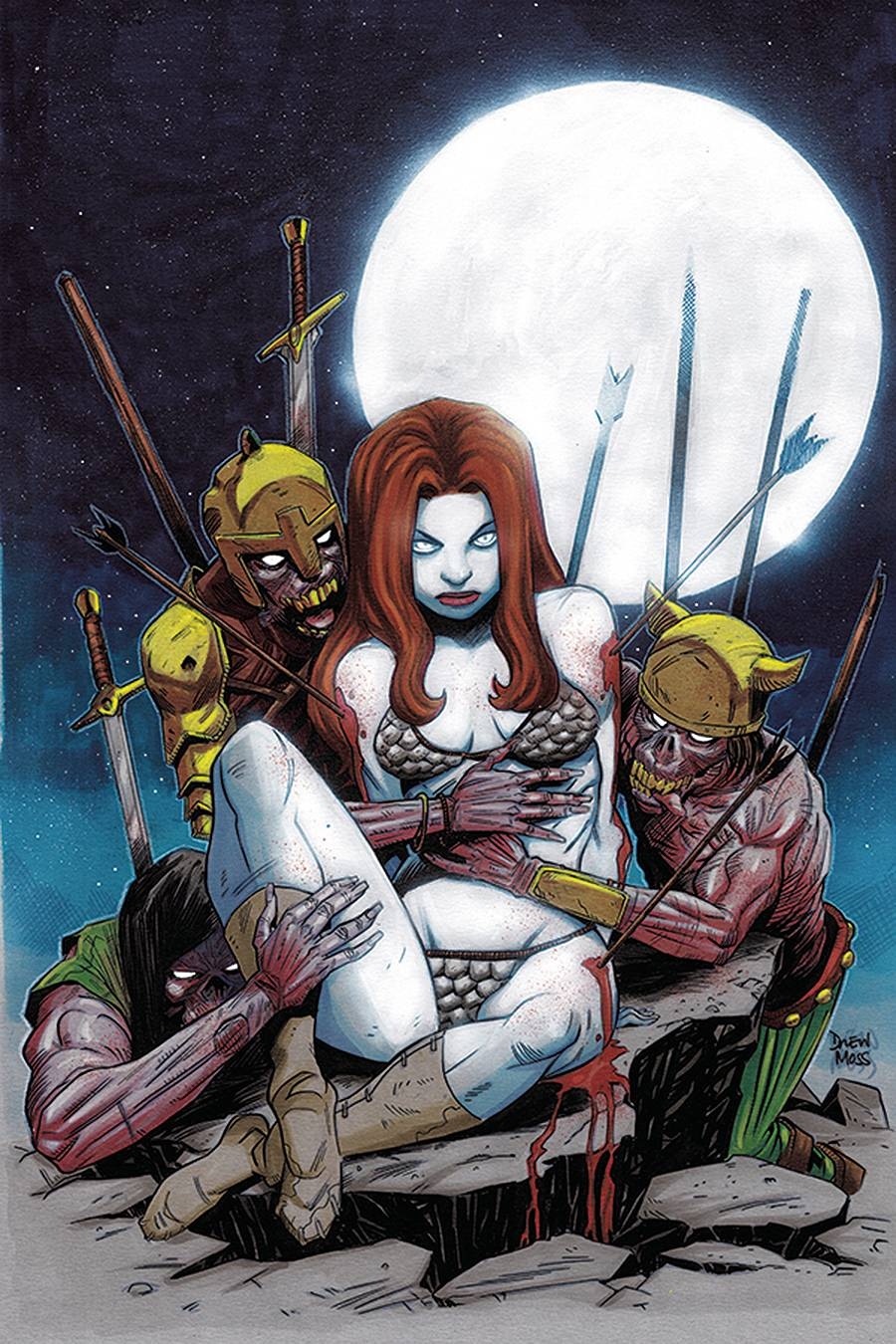 RED SONJA #23 10 COPY MOSS ZOMBIE VIRGIN INCV