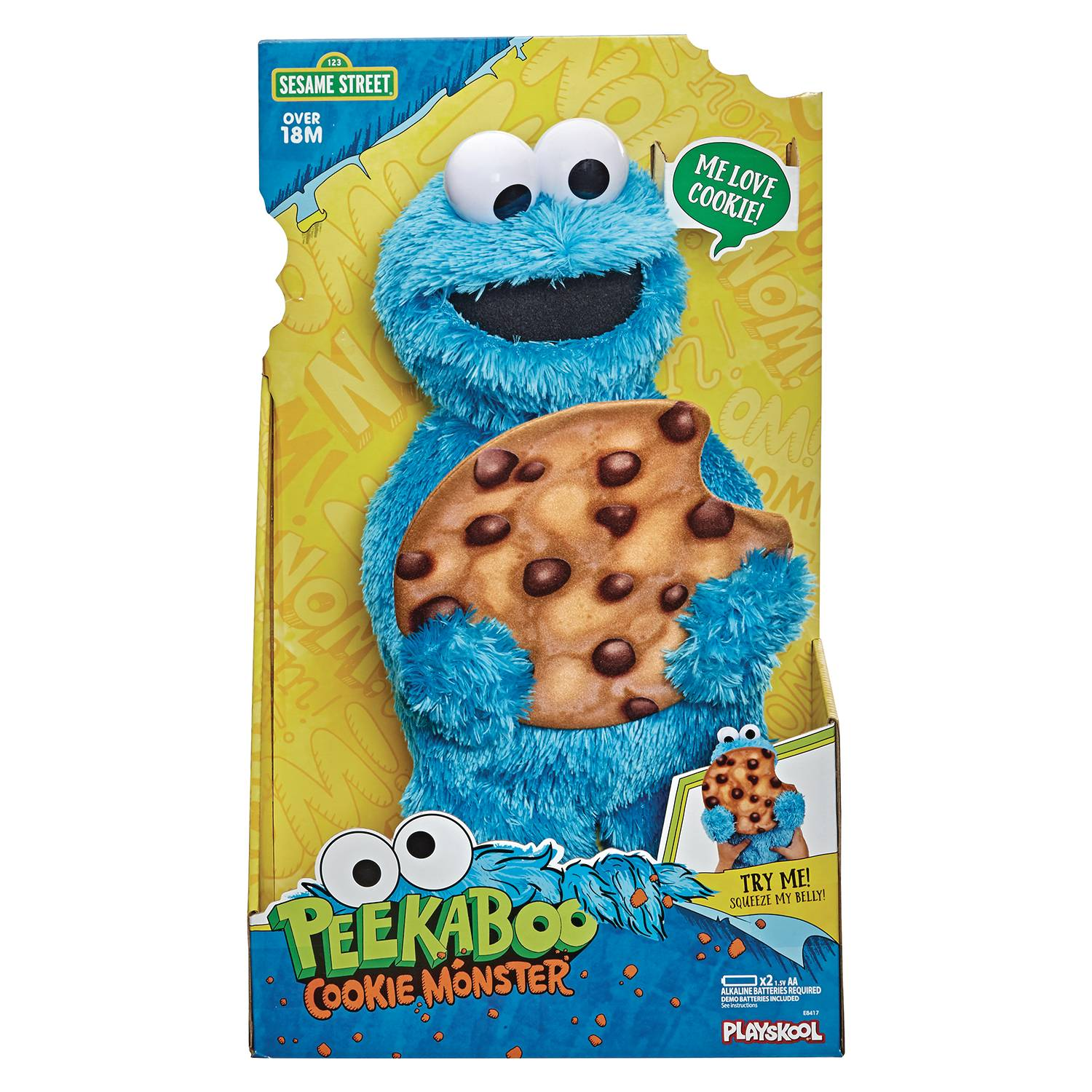 SESAME STREET PEEKABOO COOKIE MONSTER CS