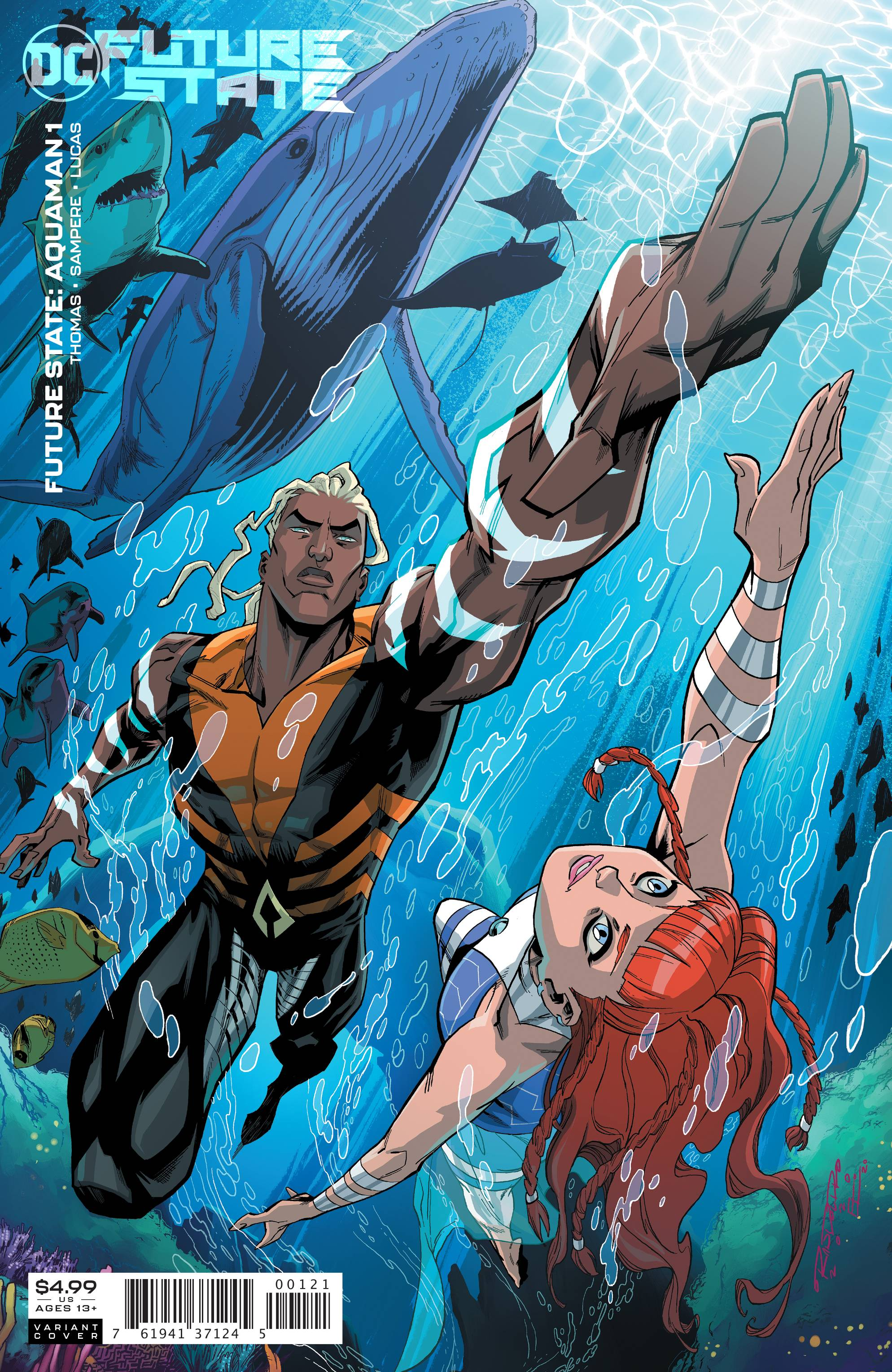 FUTURE STATE AQUAMAN #1 CARD STOCK VAR ED