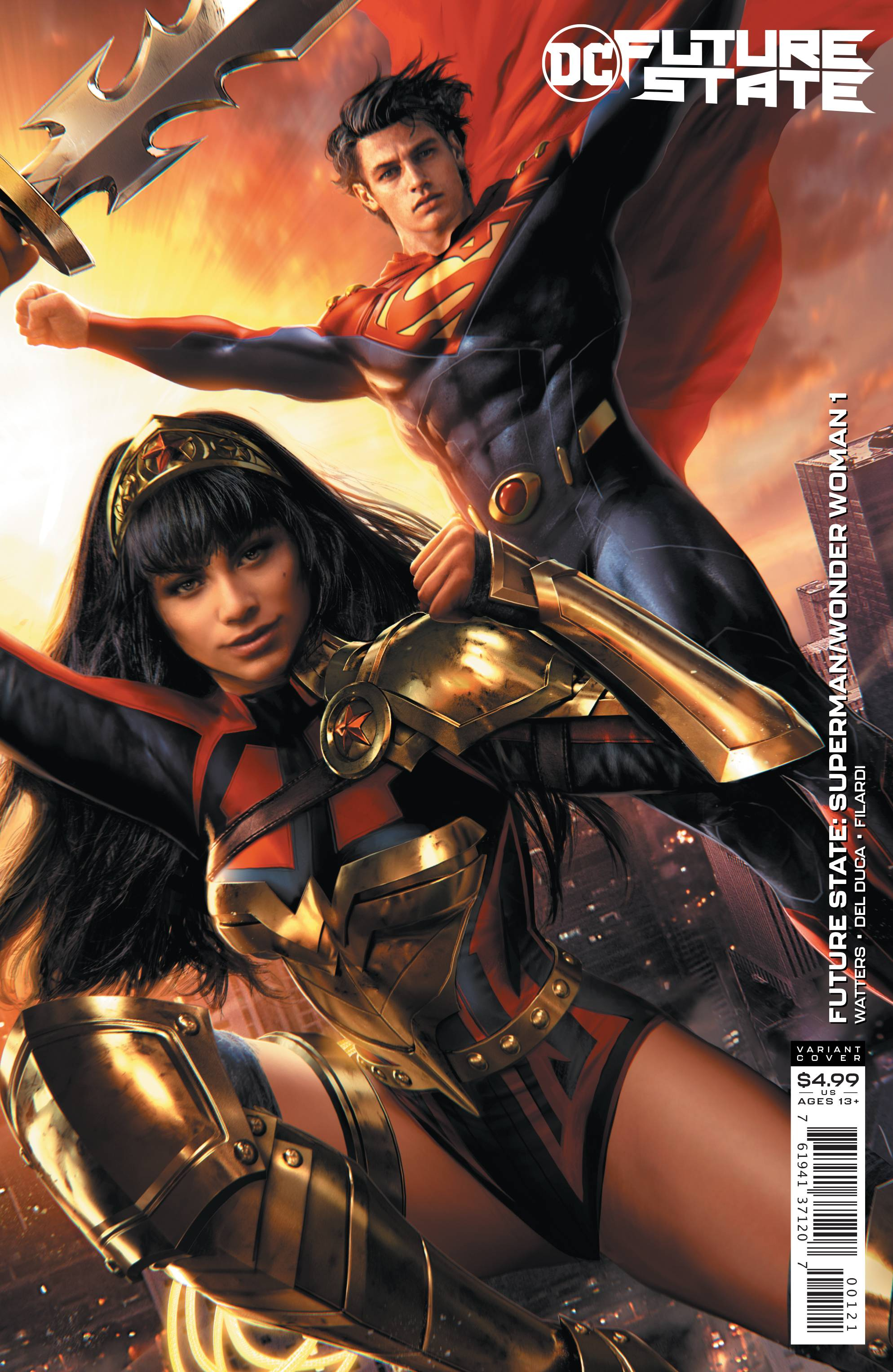 FUTURE STATE SUPERMAN WONDER WOMAN #1 CARD STOCK VAR ED