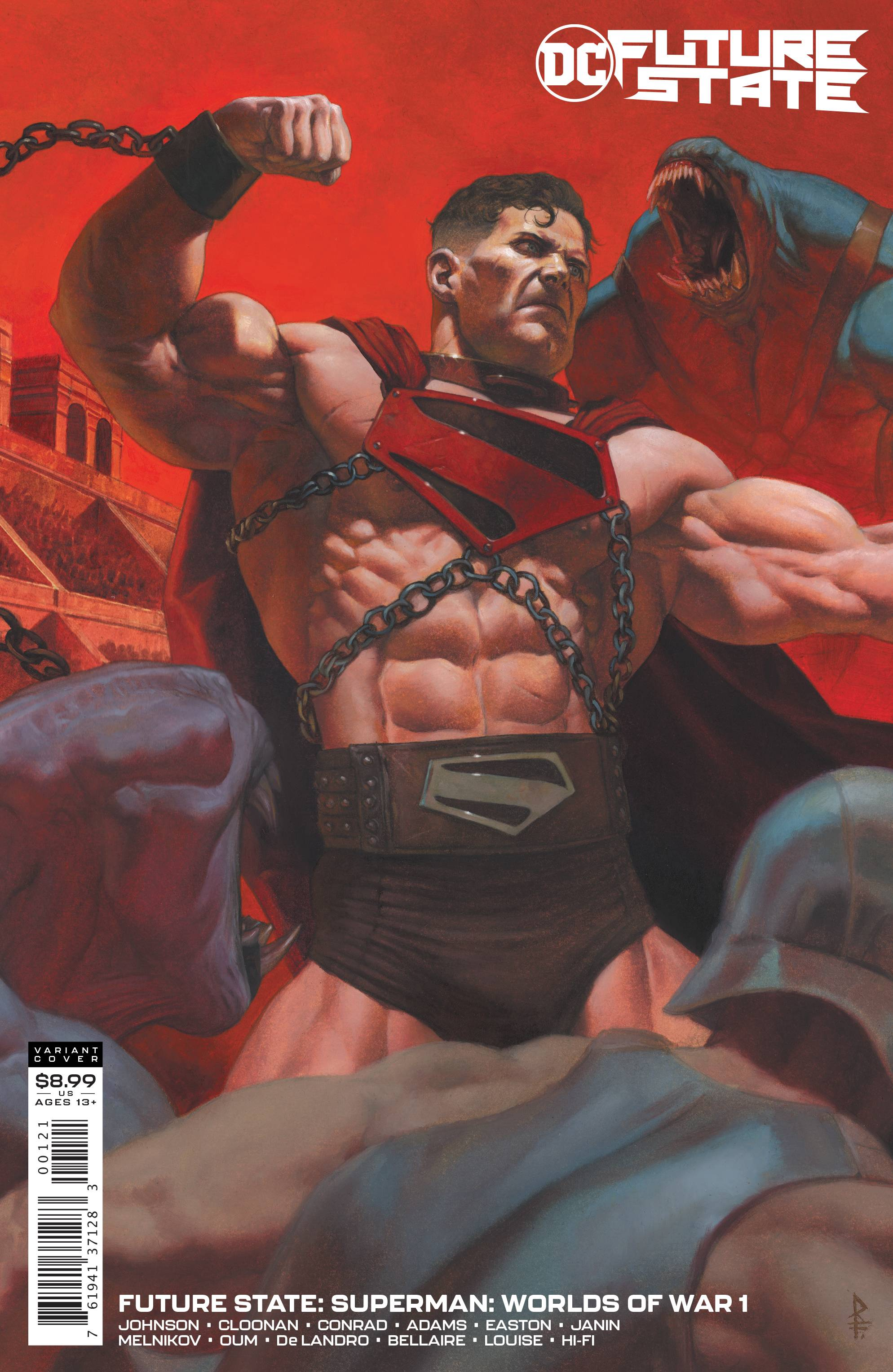 FUTURE STATE SUPERMAN WORLDS OF WAR #1 CARD STOCK VAR ED