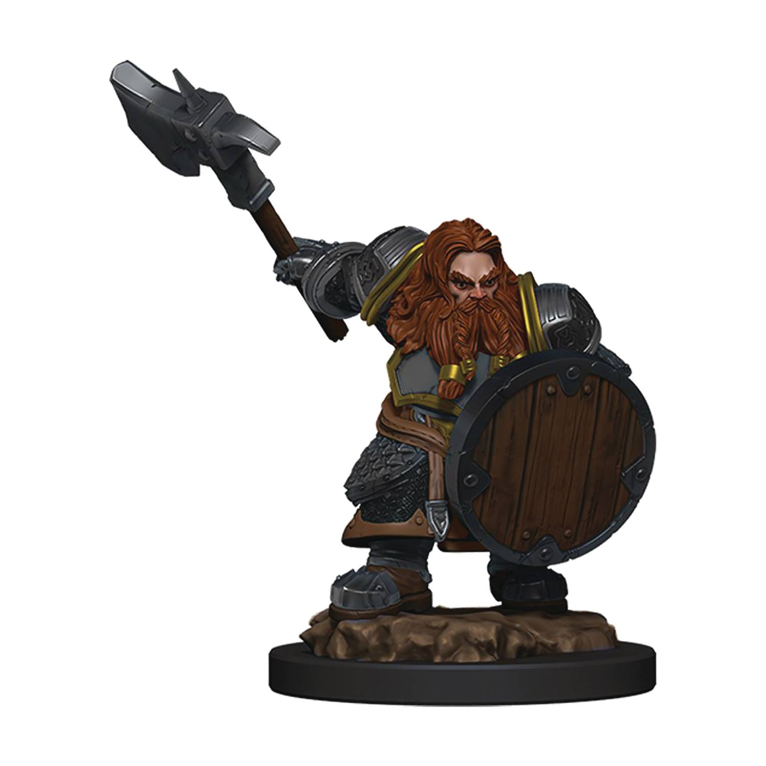 D&D ICONS REALMS PREMIUM FIG DWARF FIGHTER MALE
