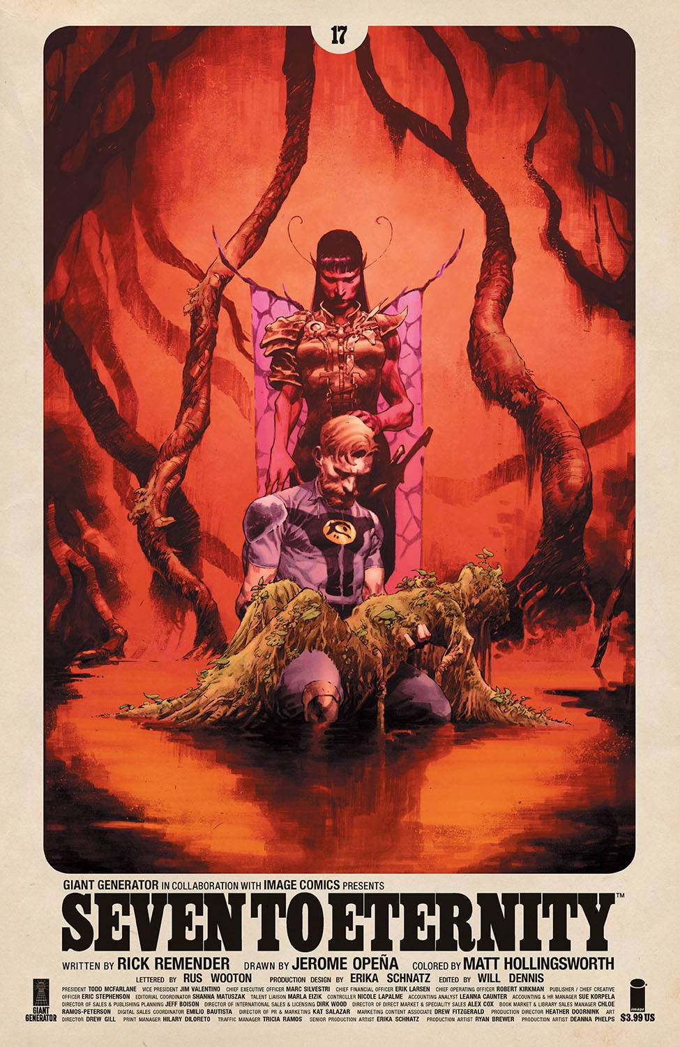SEVEN TO ETERNITY #17 CVR A OPENA & HOLLINGSWORTH