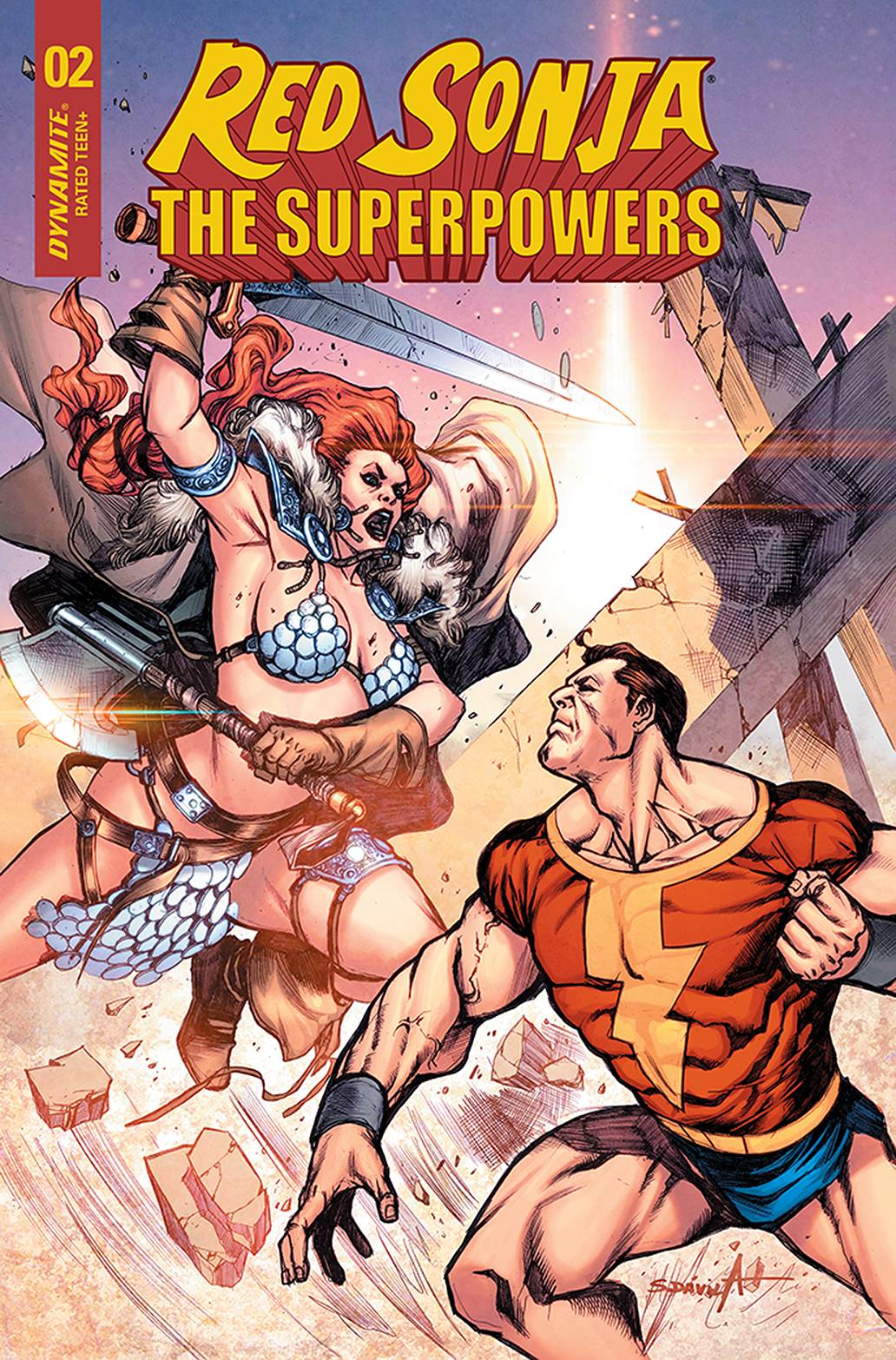 RED SONJA THE SUPERPOWERS #2 15 COPY DAVILA INCV