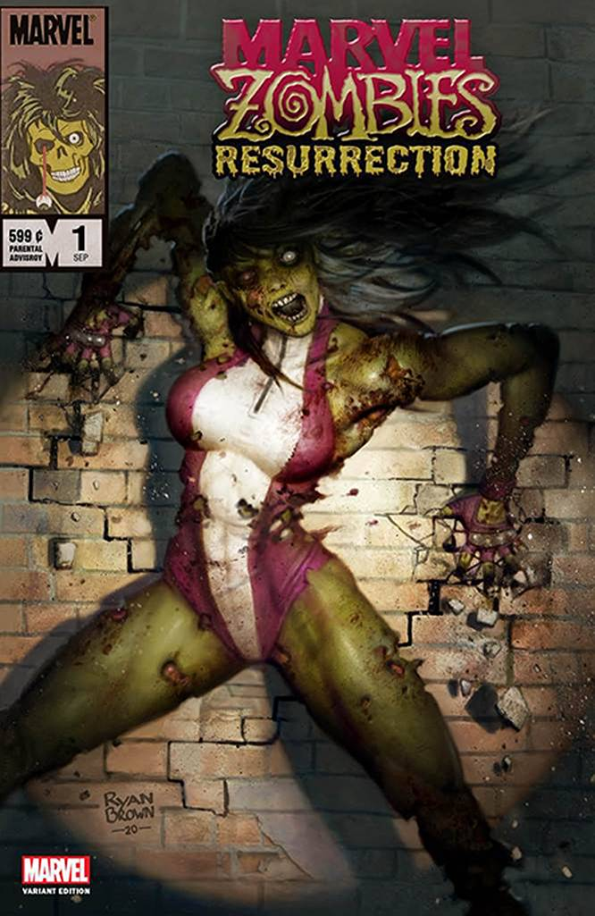 DF MARVEL ZOMBIES RESURRECTION #1 BROWN EXC