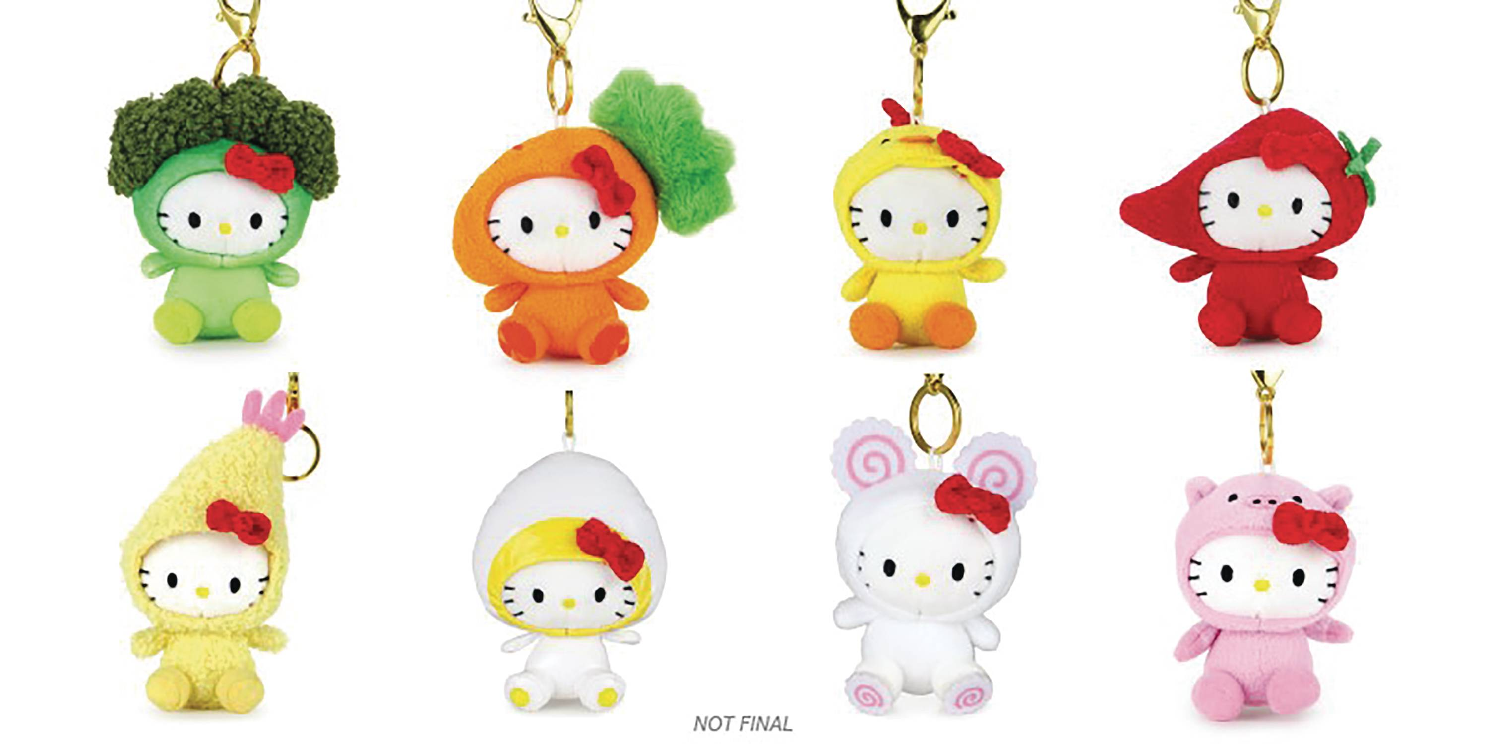 CUP NOODLES X HELLO KITTY PLUSH CHARMS CDU 24PC BMB DS