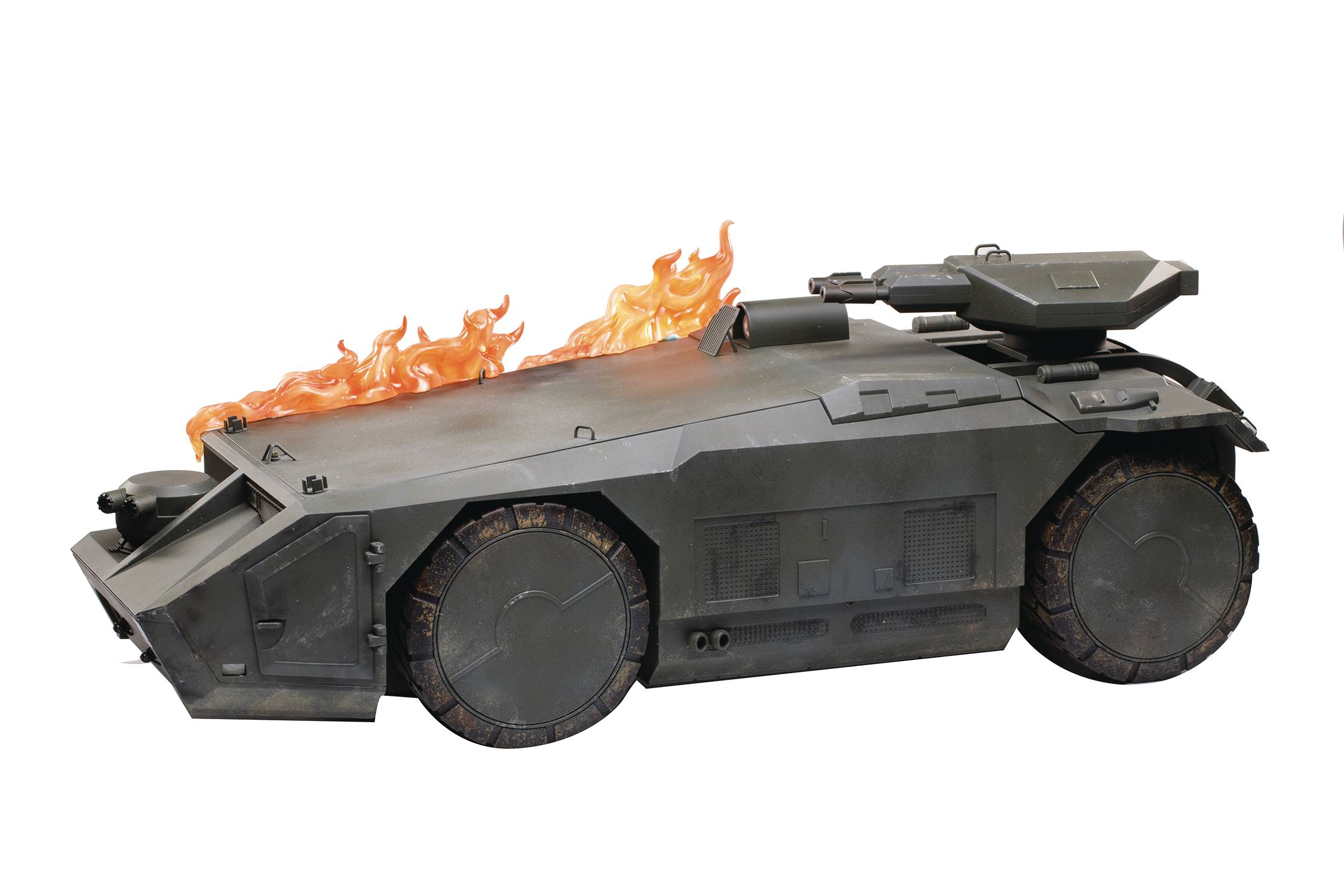 ALIENS BURNING ARMORED PERSONNEL CARRIER PX 1/18 SCALE VEH (