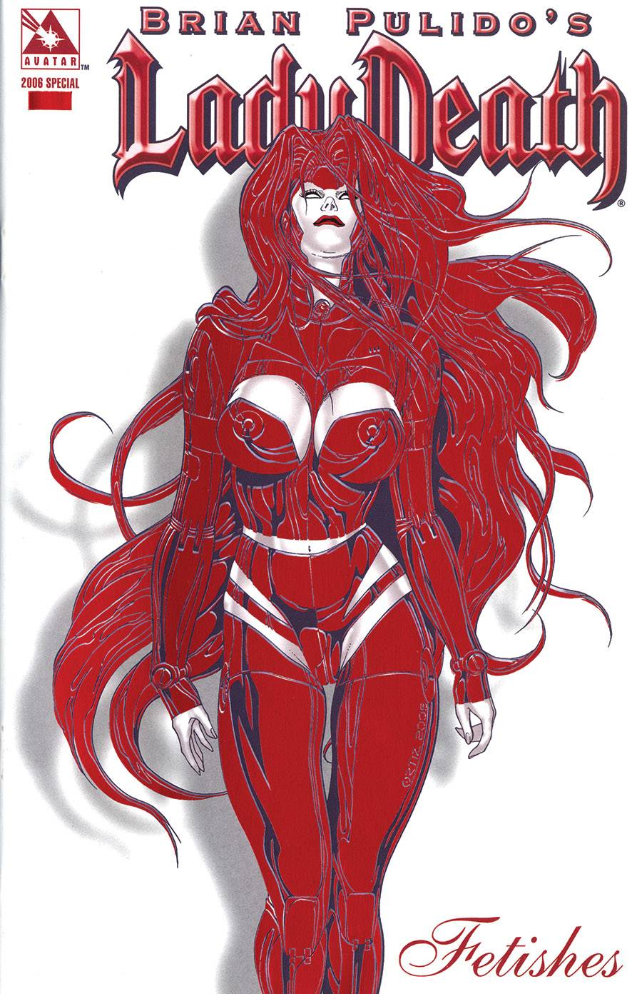 LADY DEATH FETISHES 2006 RED HOT FOIL VAR (MR)