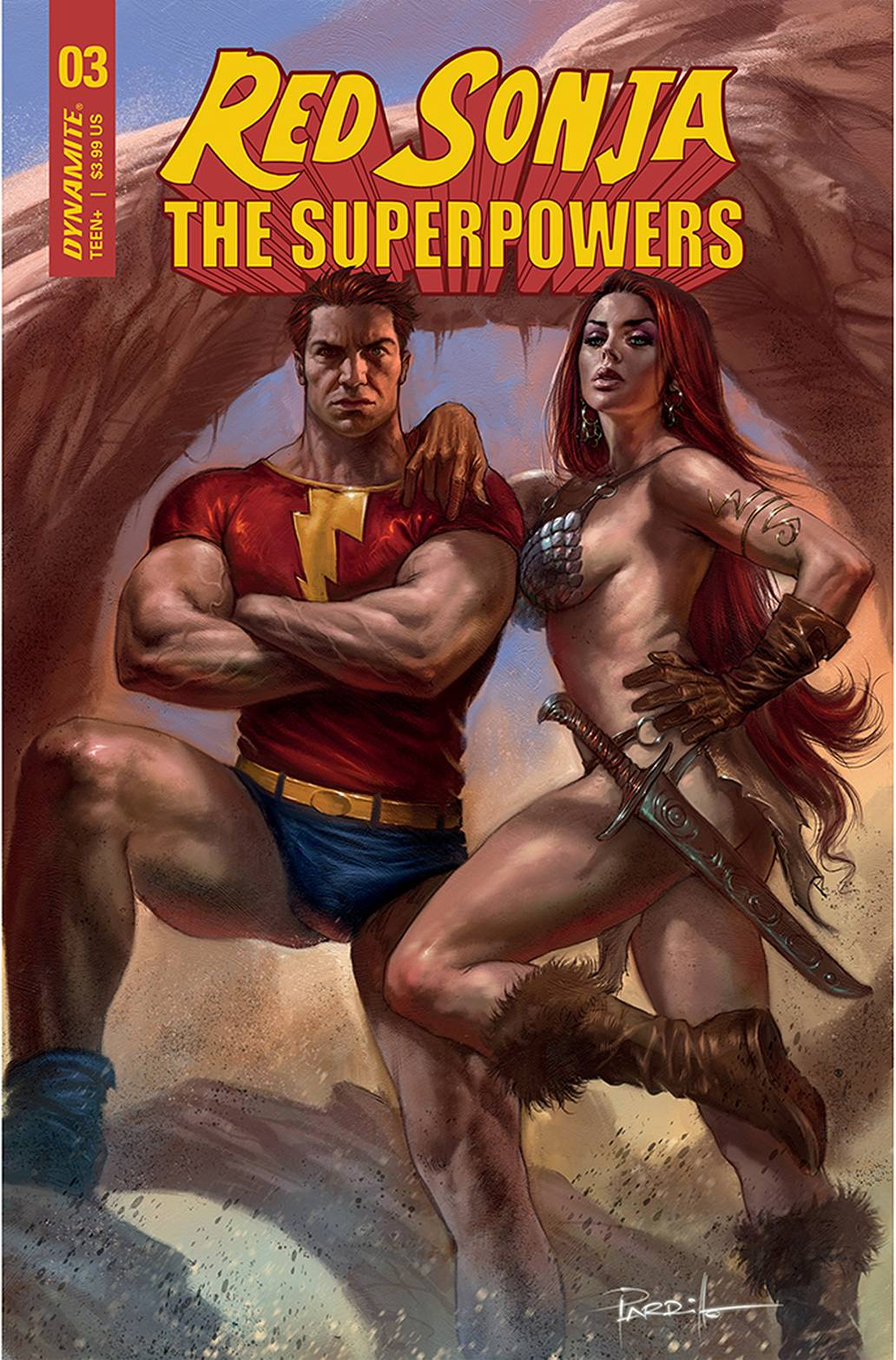 RED SONJA THE SUPERPOWERS #3 CVR A PARRILLO