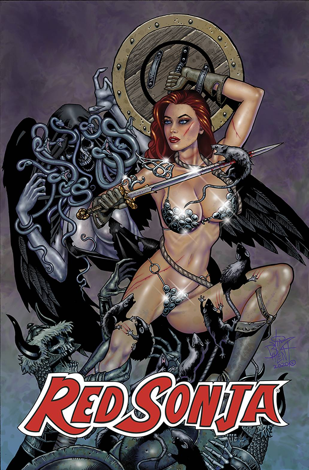 JIM BALENT CLASSIC RED SONJA #4 REPRINT VIRGIN CVR