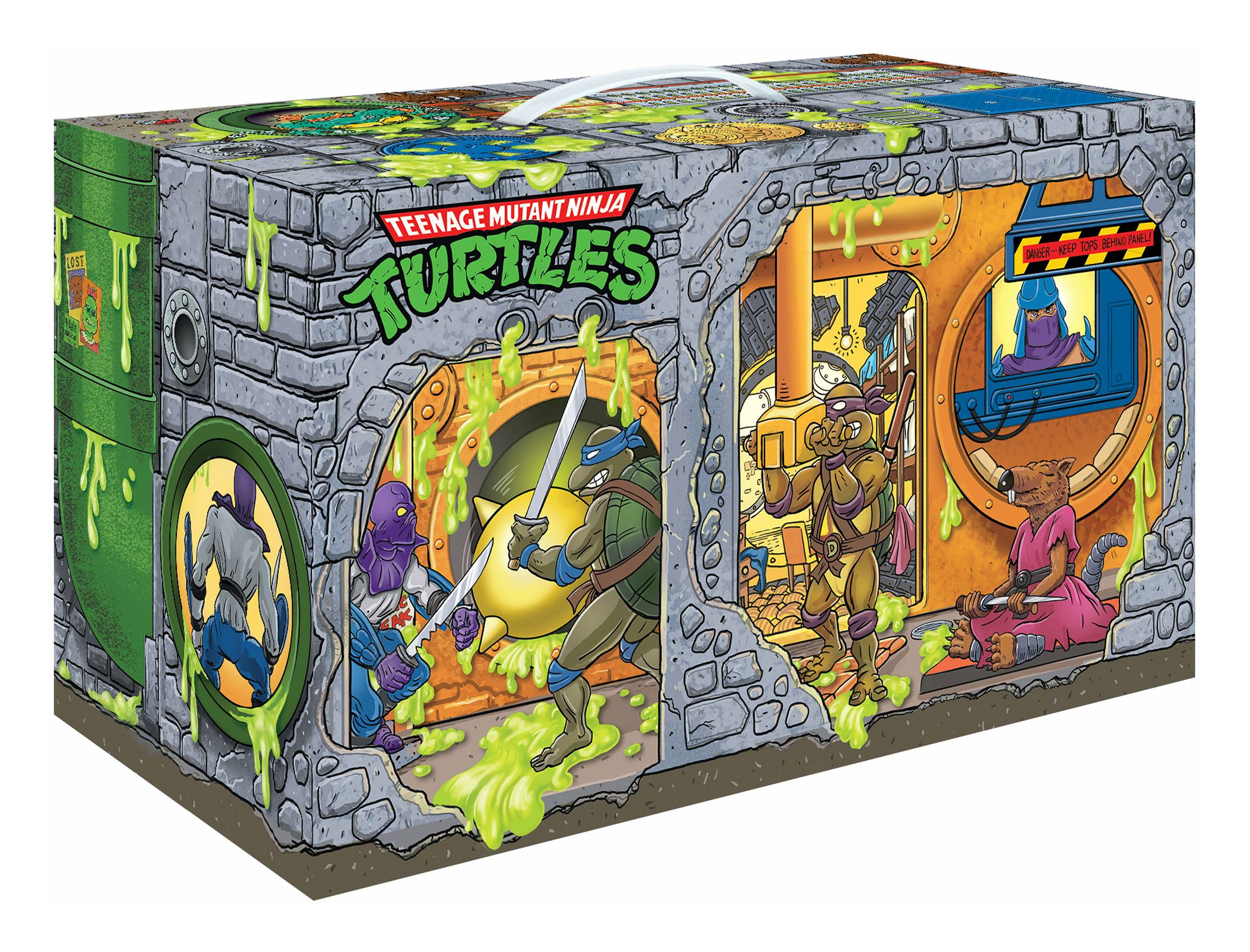 TMNT RETRO ROTOCAST SEWER LAIR PX 6PC AF SET
