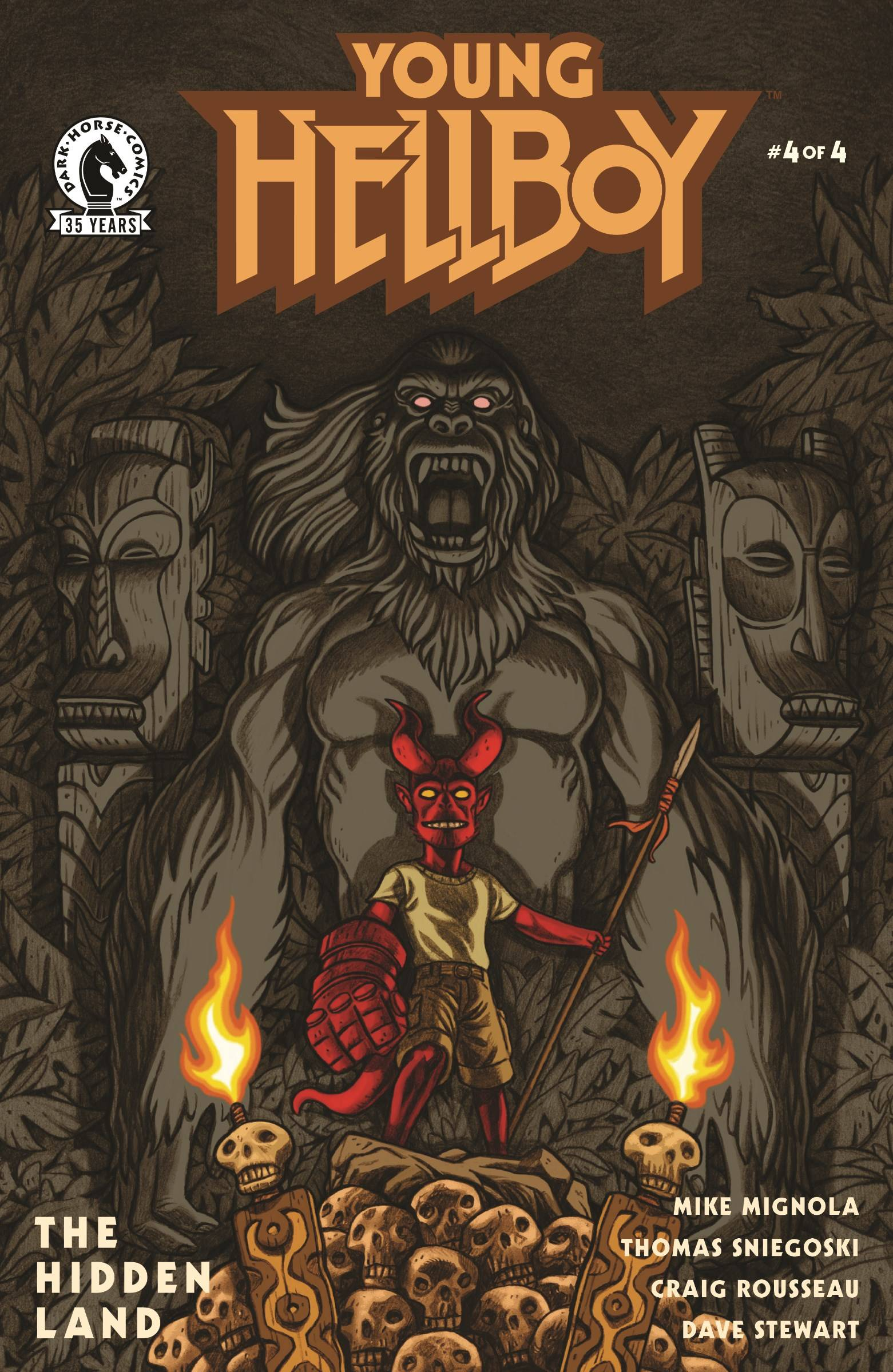 YOUNG HELLBOY THE HIDDEN LAND #4 (OF 4) CVR B CARPENTER