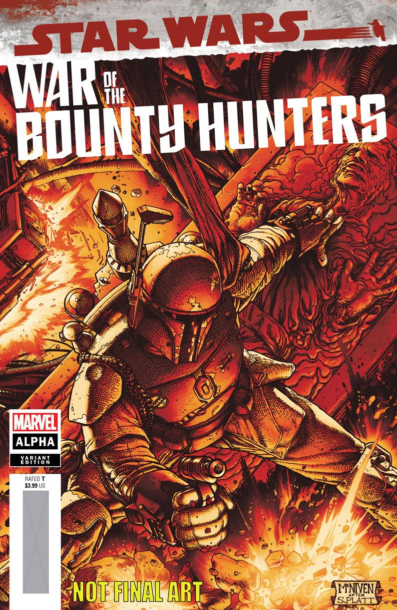STAR WARS WAR BOUNTY HUNTERS ALPHA #1 MCNIVEN CRIMSON VAR