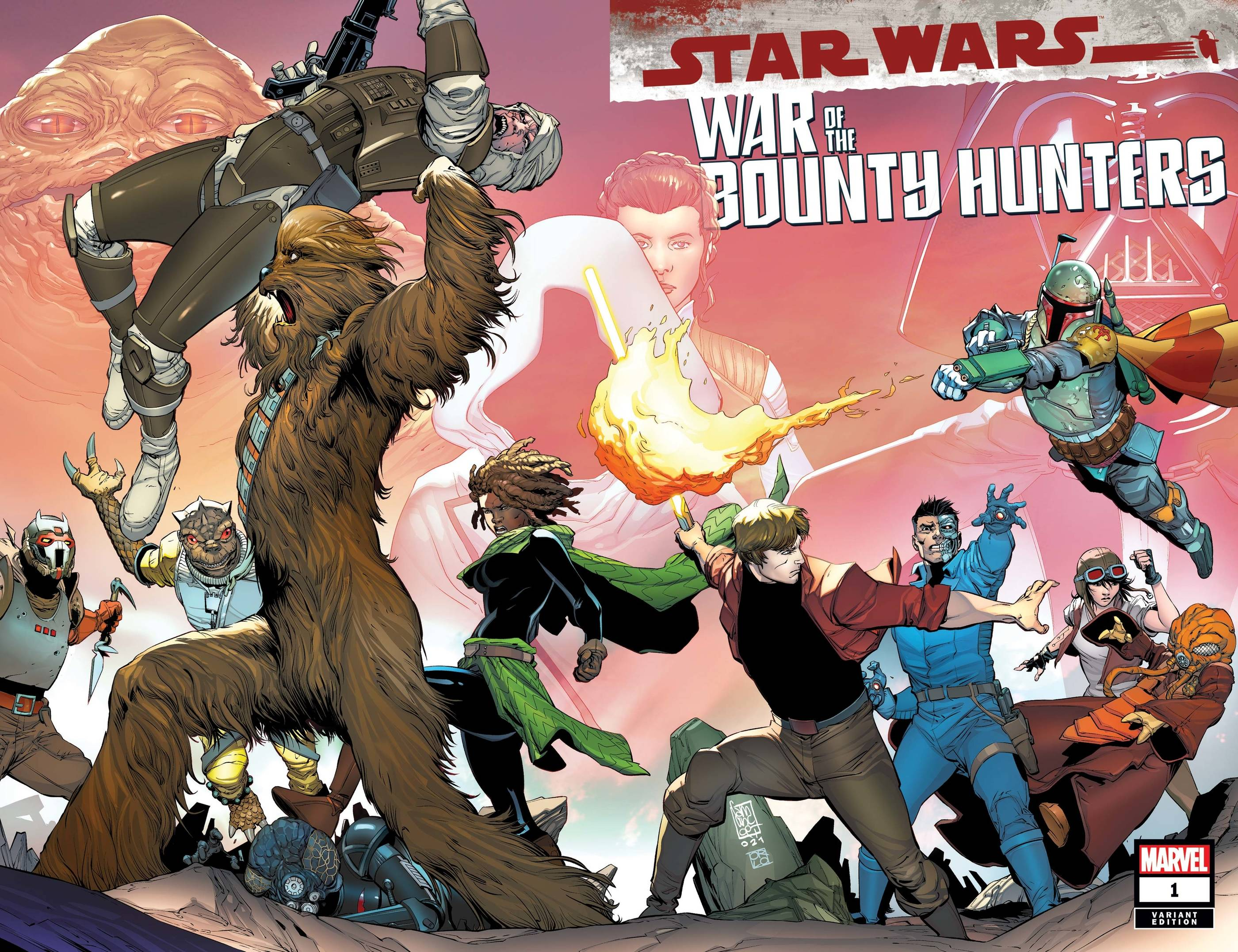 STAR WARS WAR BOUNTY HUNTERS #1 (OF 5) CAMUNCOLI WRPAD VAR