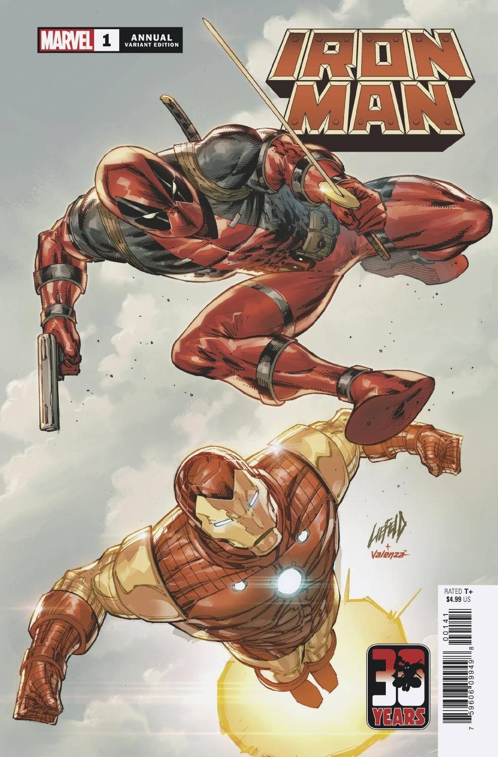 IRON MAN ANNUAL #1 LIEFELD DEADPOOL 30TH VAR