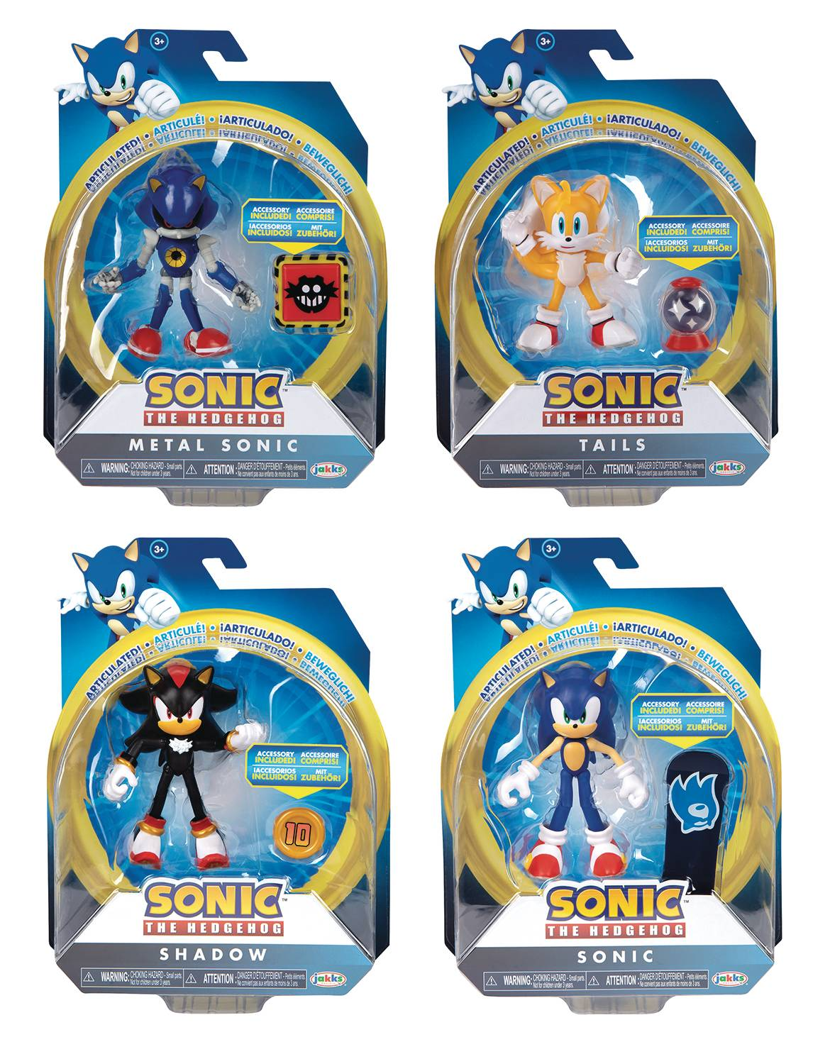 SONIC THE HEDGEHOG 4IN ARTICULATED AF WV4-1/2 ASST