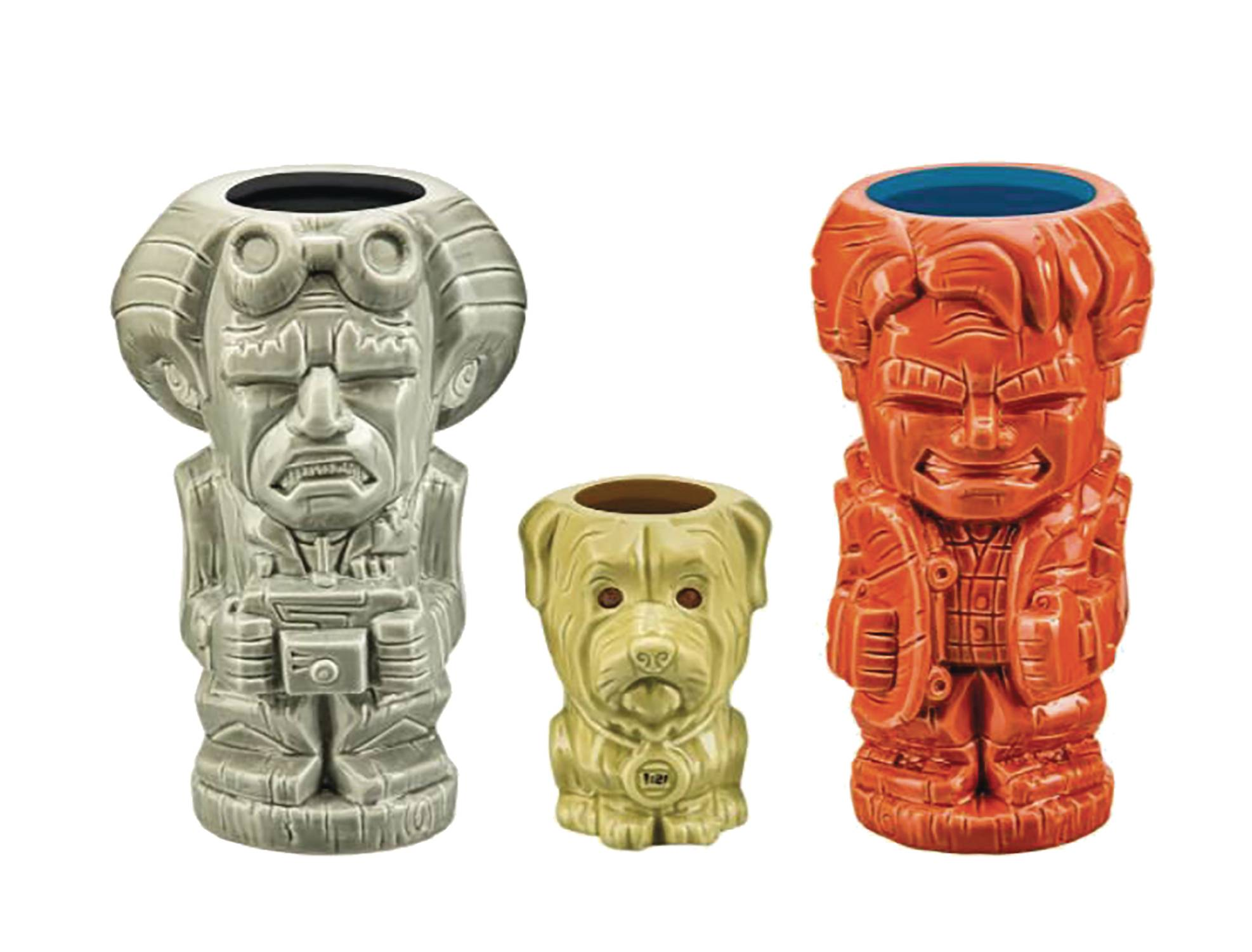 BACK TO THE FUTURE TIKI MUG 3PC SET