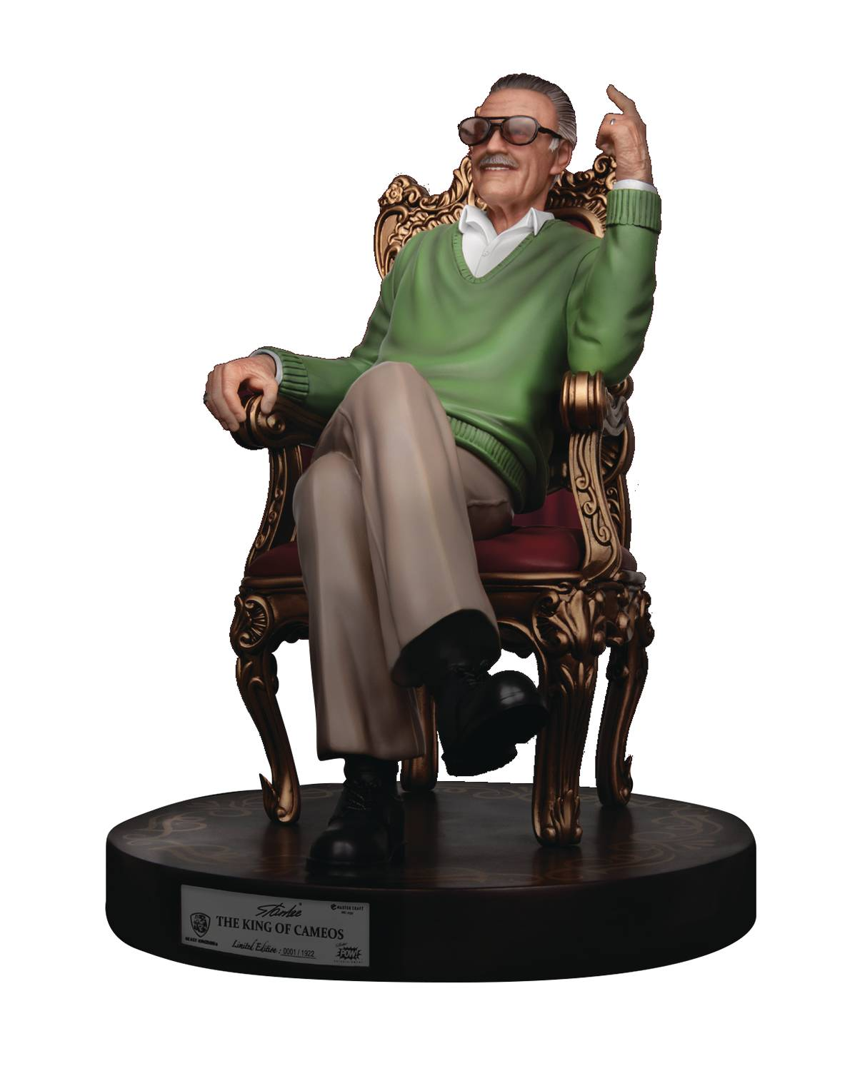 STAN LEE MC-030 THE KING OF CAMEOS MASTER CRAFT STATUE