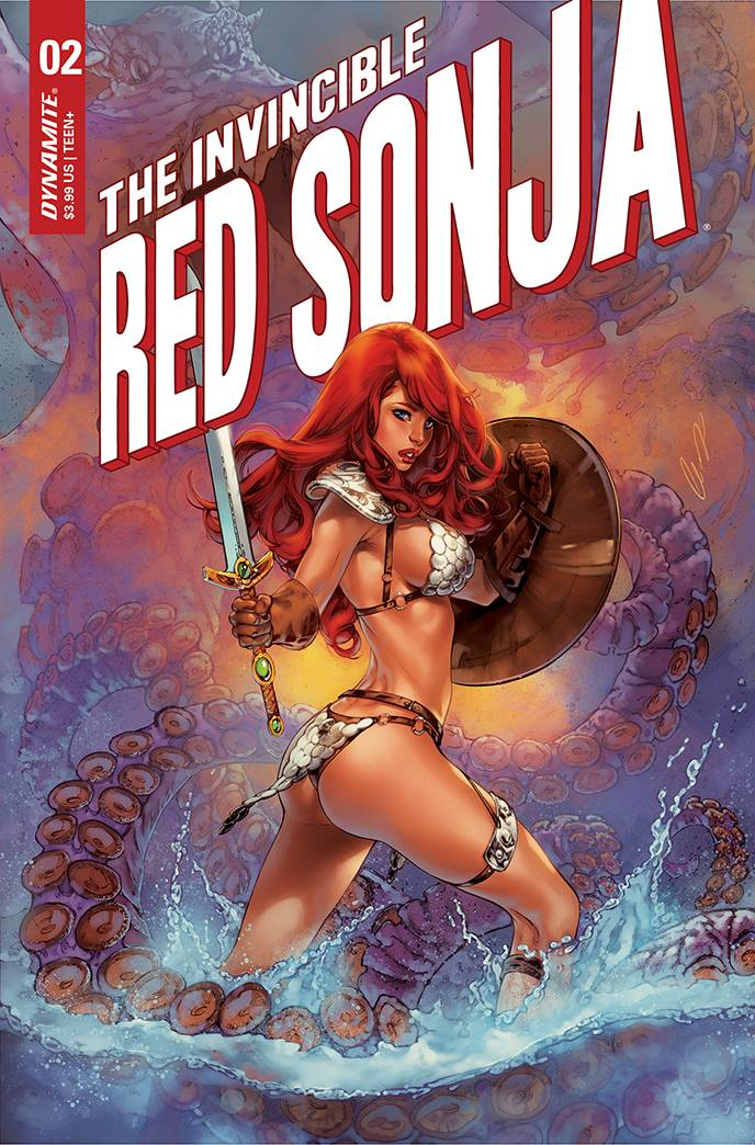 INVINCIBLE RED SONJA #2 PREMIUM CHATZOUDIS FOC VAR