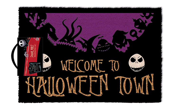welcome guests to your home like the one and only pumpkin king jack skelington with this new welcome to halloween town doormat - Halloweentown Nightmare Before Christmas